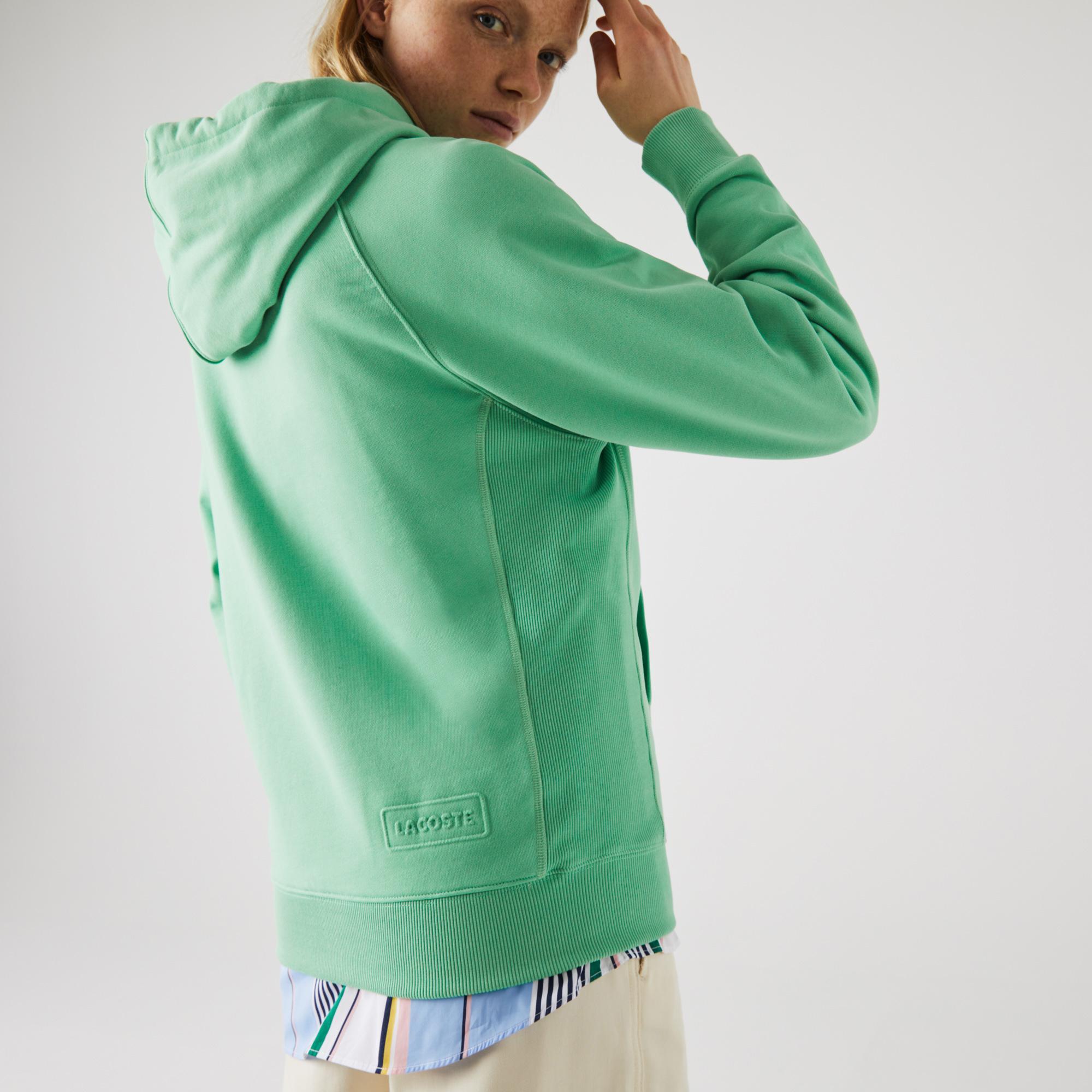 Lacoste L!VE Bawełniana bluza z kapturem unisex