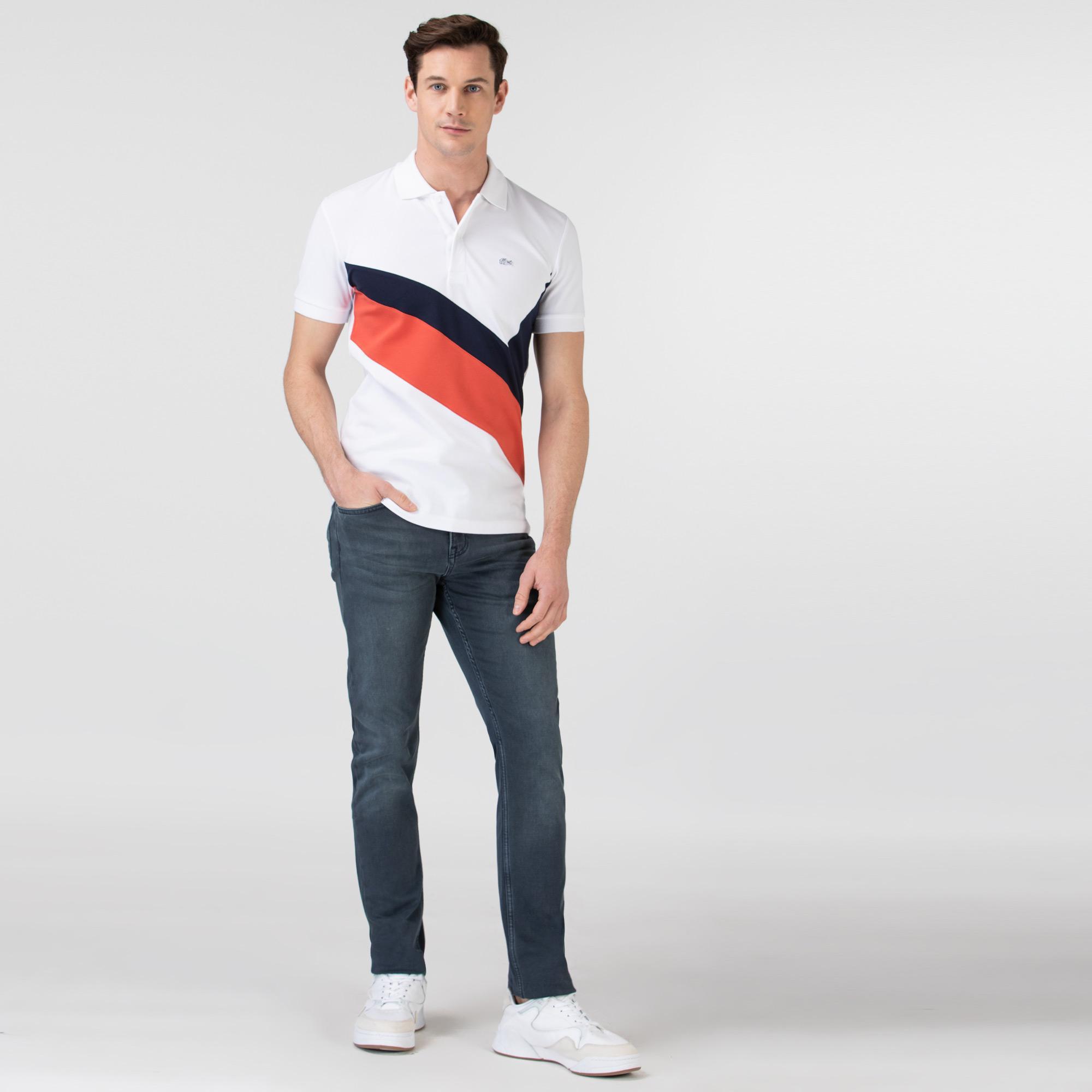 Spodnie męskie Lacoste o dopasowanym kroju
