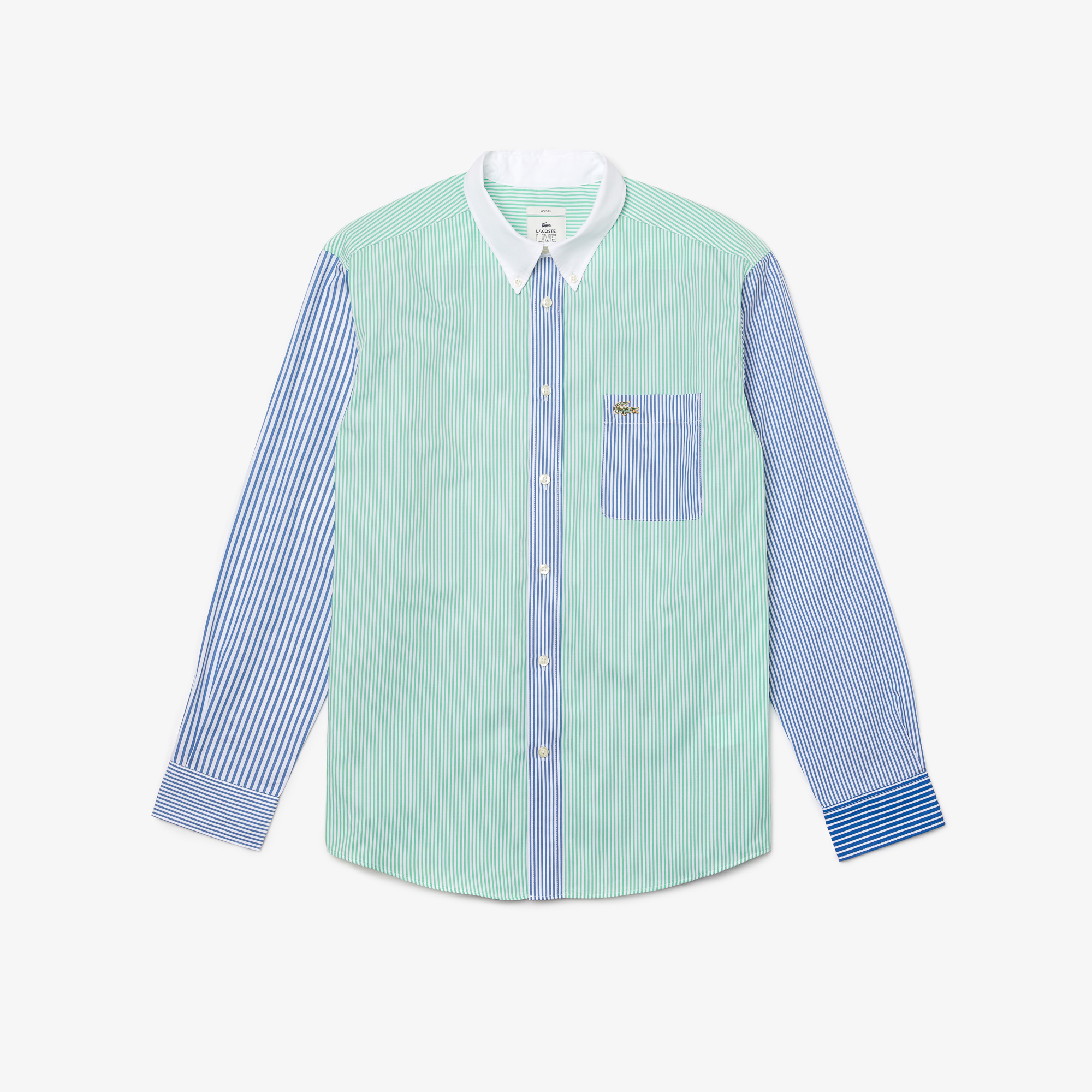 Lacoste L!VE Bawełniana koszula Relaxed Fit unisex w paski