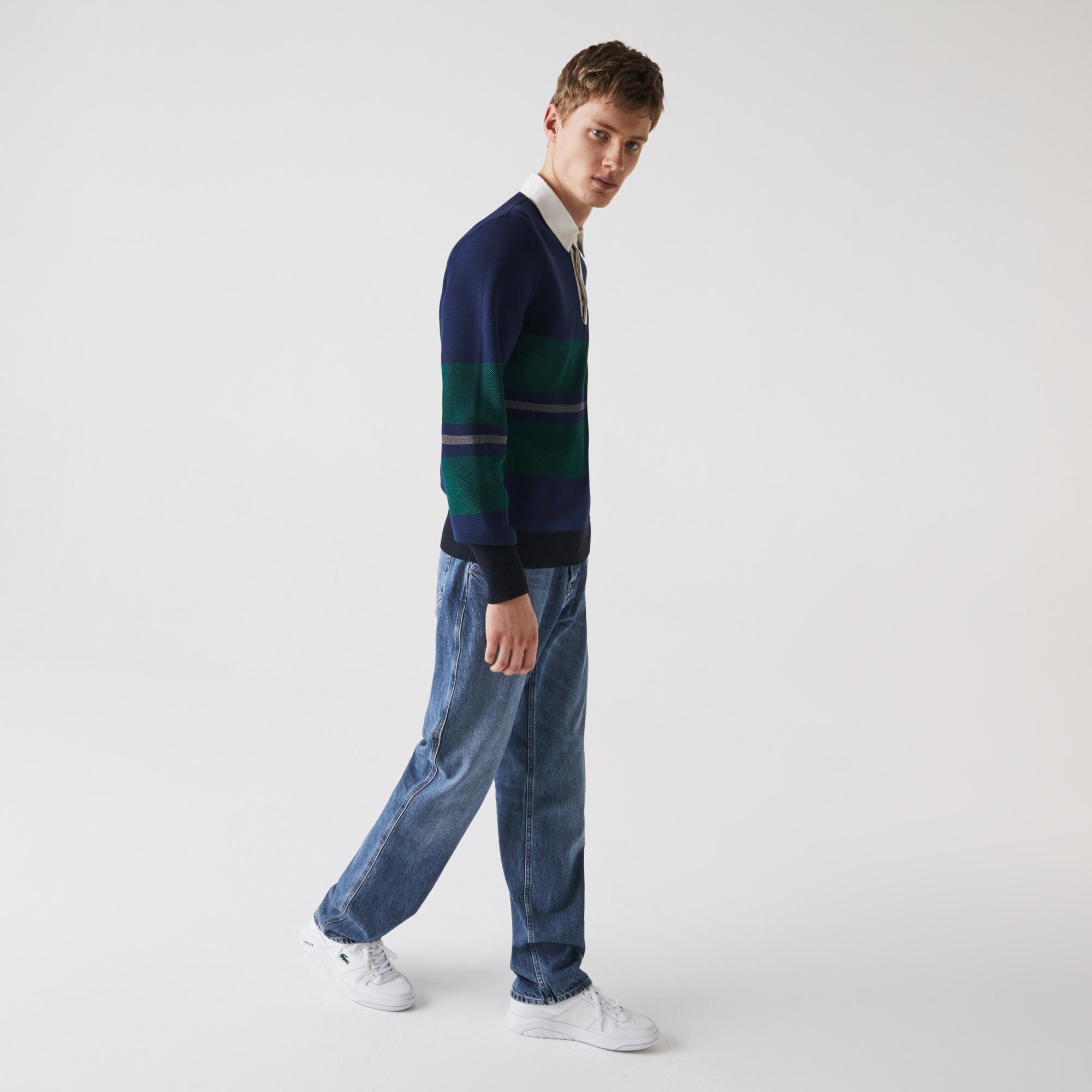Lacoste Męskie jeansy z pięcioma kieszeniami o luźnym kroju z jeansu bawełnianego