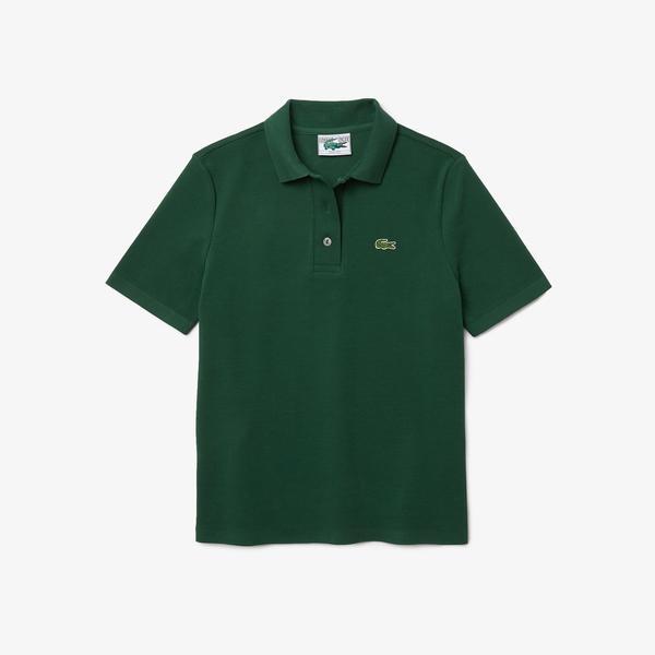 Lacoste Damska koszulka polo Regular Fit z bawełny organicznej w paski
