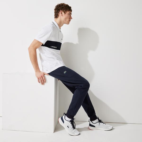 Lacoste Męskie spodnie dresowe ze wstawkami z siatki Lacoste