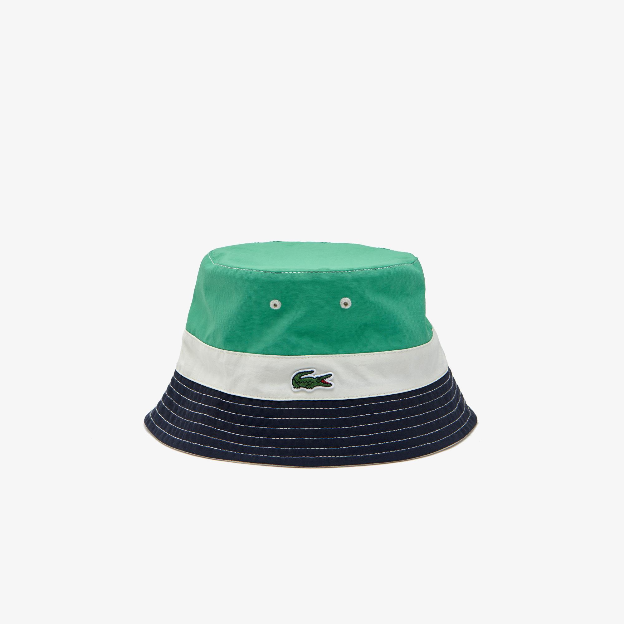 Lacoste Męska lekka dwustronna czapka wędkarska w bloki kolorystyczne