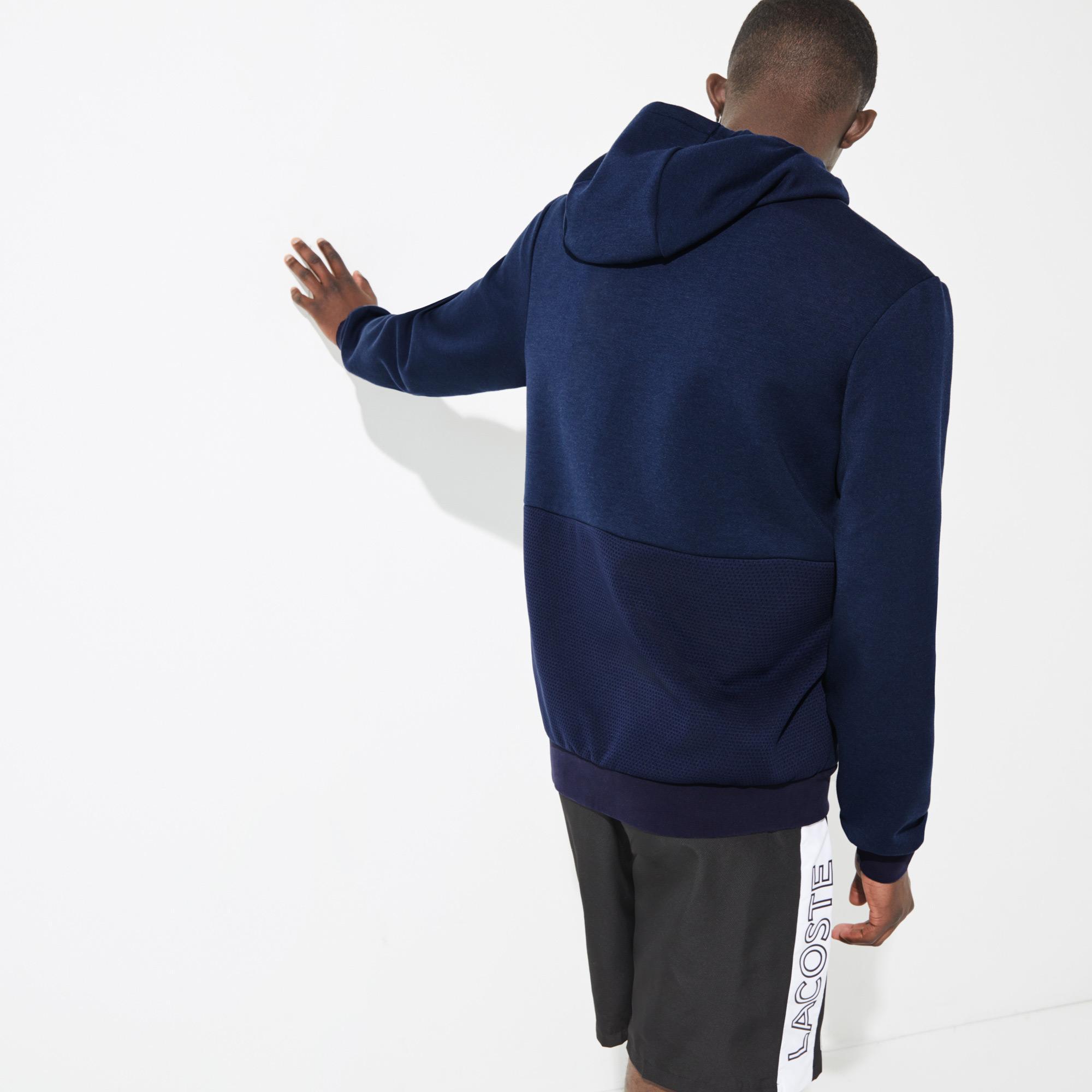 Lacoste SPORT Męska bluza z kapturem ze wstawkami z siatki