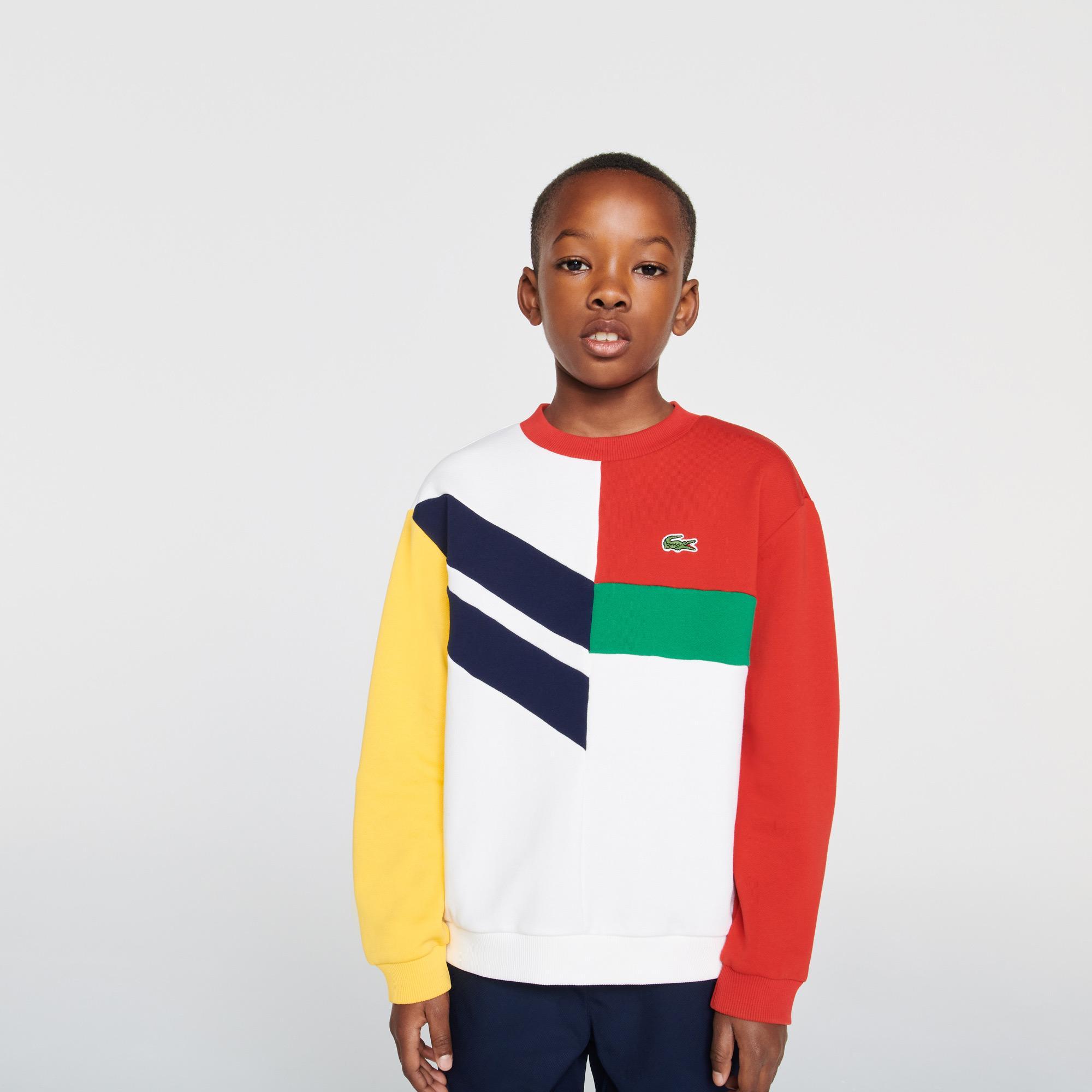 Lacoste Chłopięca bluza z polaru bawełnianego z grafikami