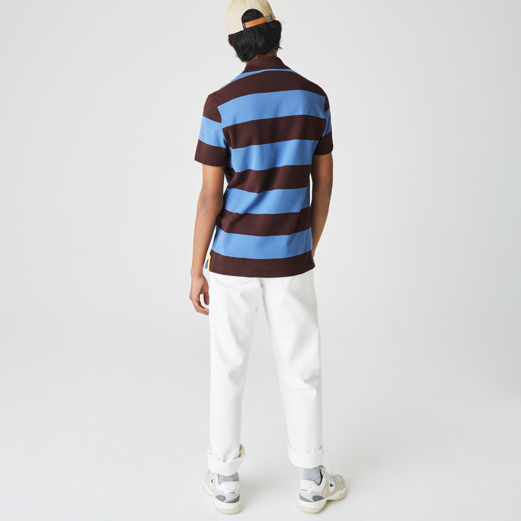 Lacoste Męska koszulka polo Regular Fit z piki bawełnianej w paski