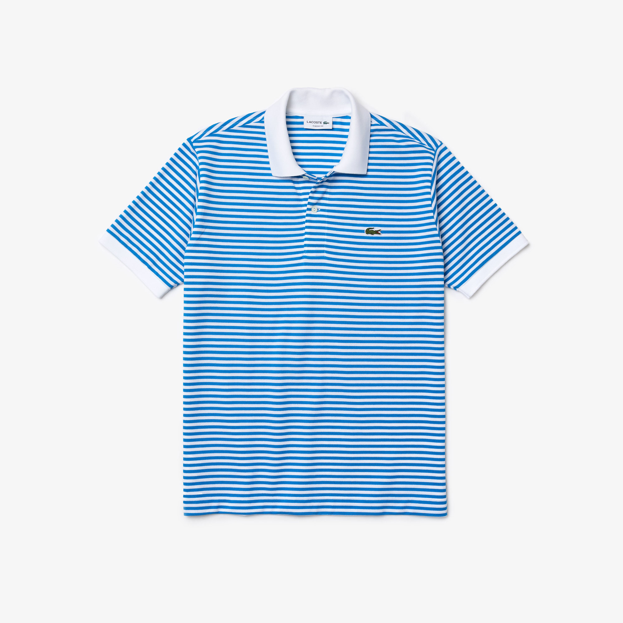 Lacoste Męska koszulka polo Classic Fit z piki bawełnianej w paski