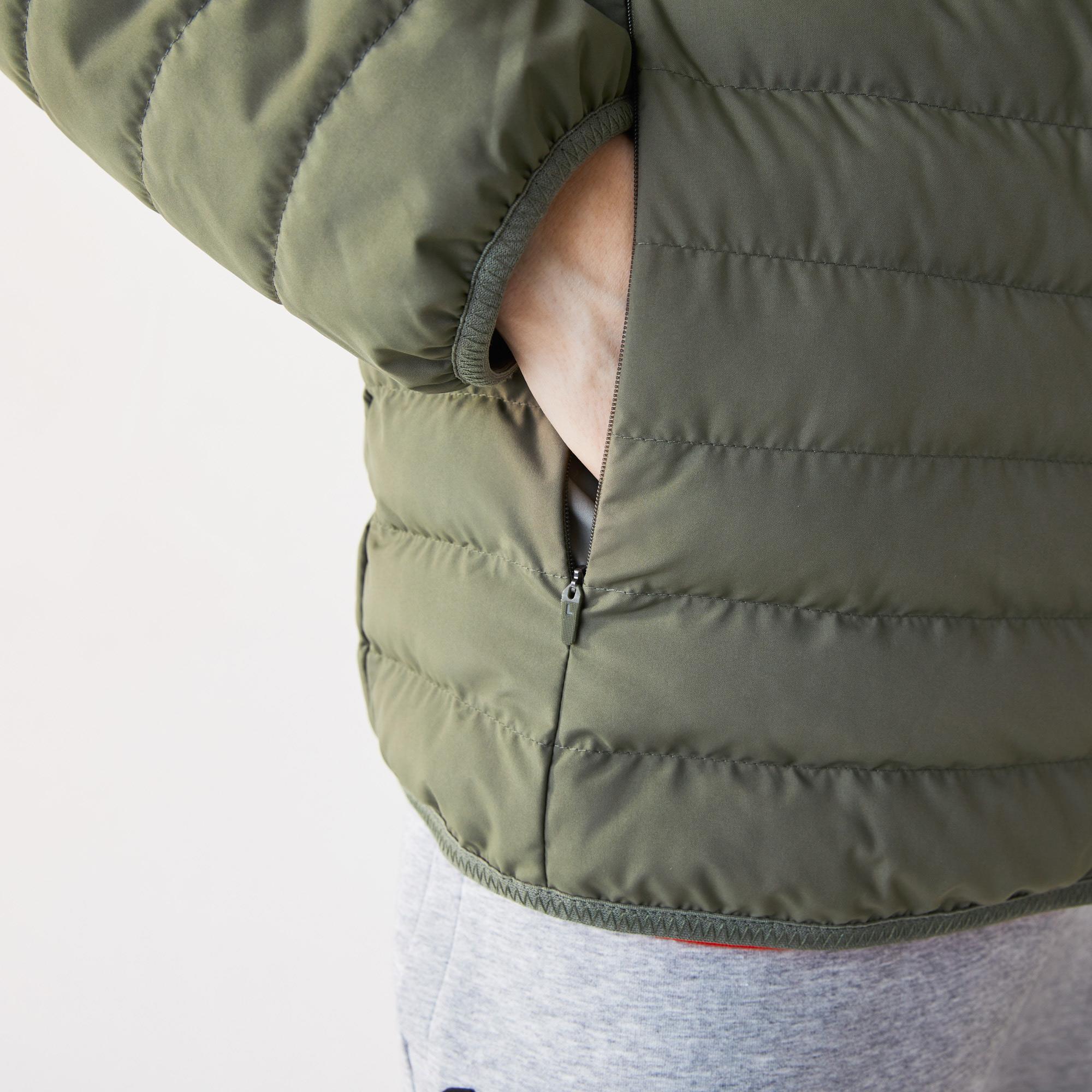 Lacoste Męska lekka przeciwdeszczowa pikowana kurtka na zamek błyskawiczny