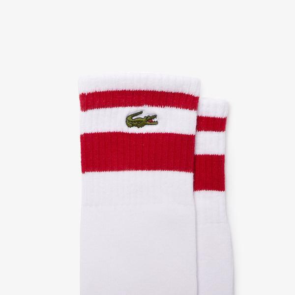 Lacoste SPORT Męskie długie skarpety do gry w tenisa z elastycznej bawełny