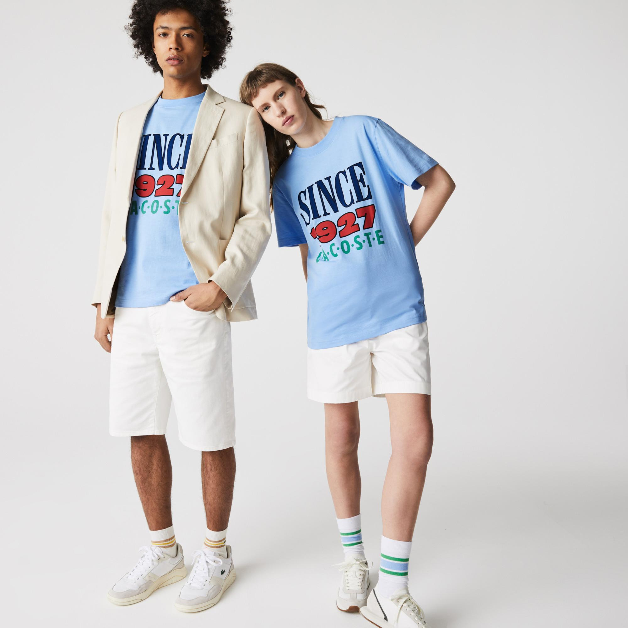Lacoste L!VE Bawełniany T-shirt unisex z nadrukiem