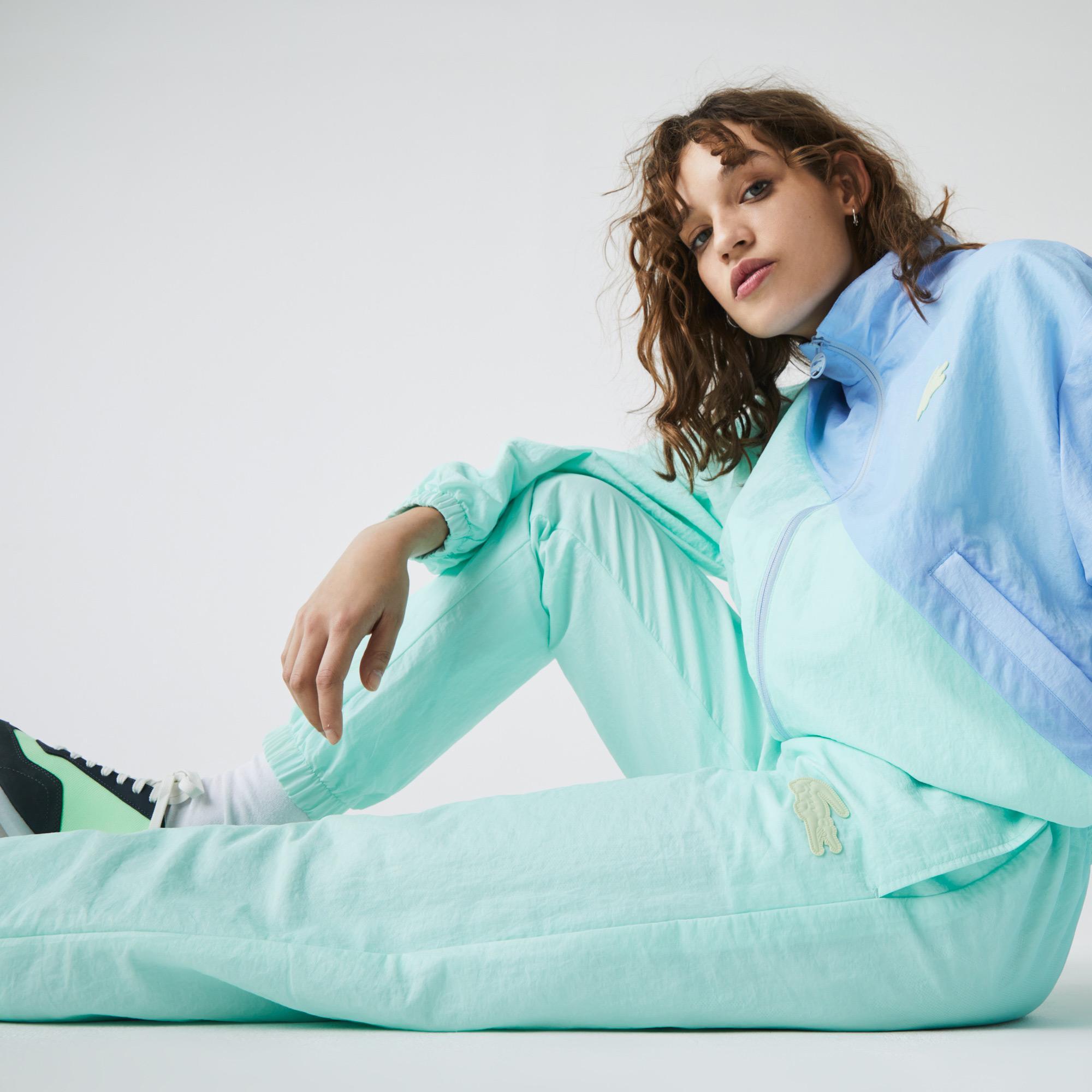 Lacoste L!VE Damskie spodnie dresowe ze wzorem