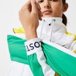 Lacoste SPORT Damska kurtka przeciwdeszczowa na zamek błyskawiczny do gry w tenisa