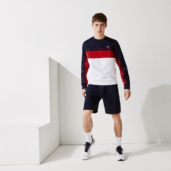 Lacoste SPORT Męska bluza w bloki kolorystyczne z odpornej piki