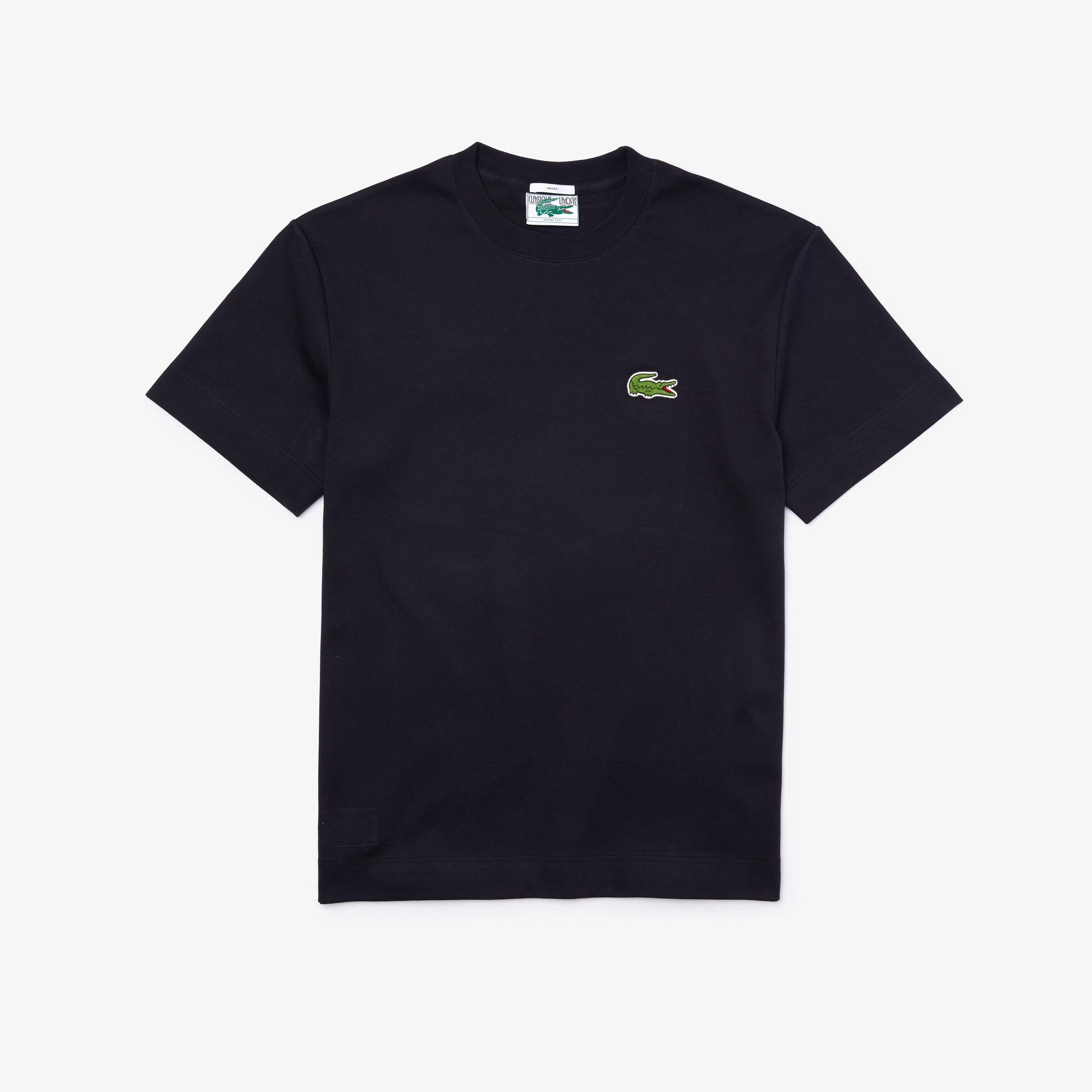 Lacoste T-shirt unisex z okrągłym dekoltem z bawełny organicznej