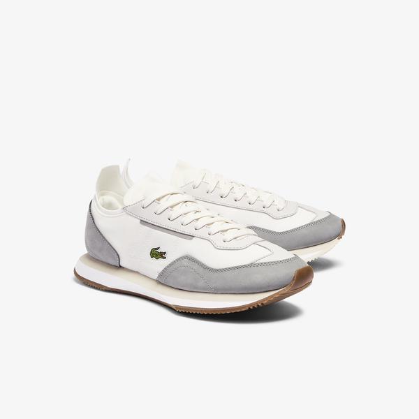 Lacoste Match Break 0721 1 G Sfa Kadın Beyaz - Gri Sneaker