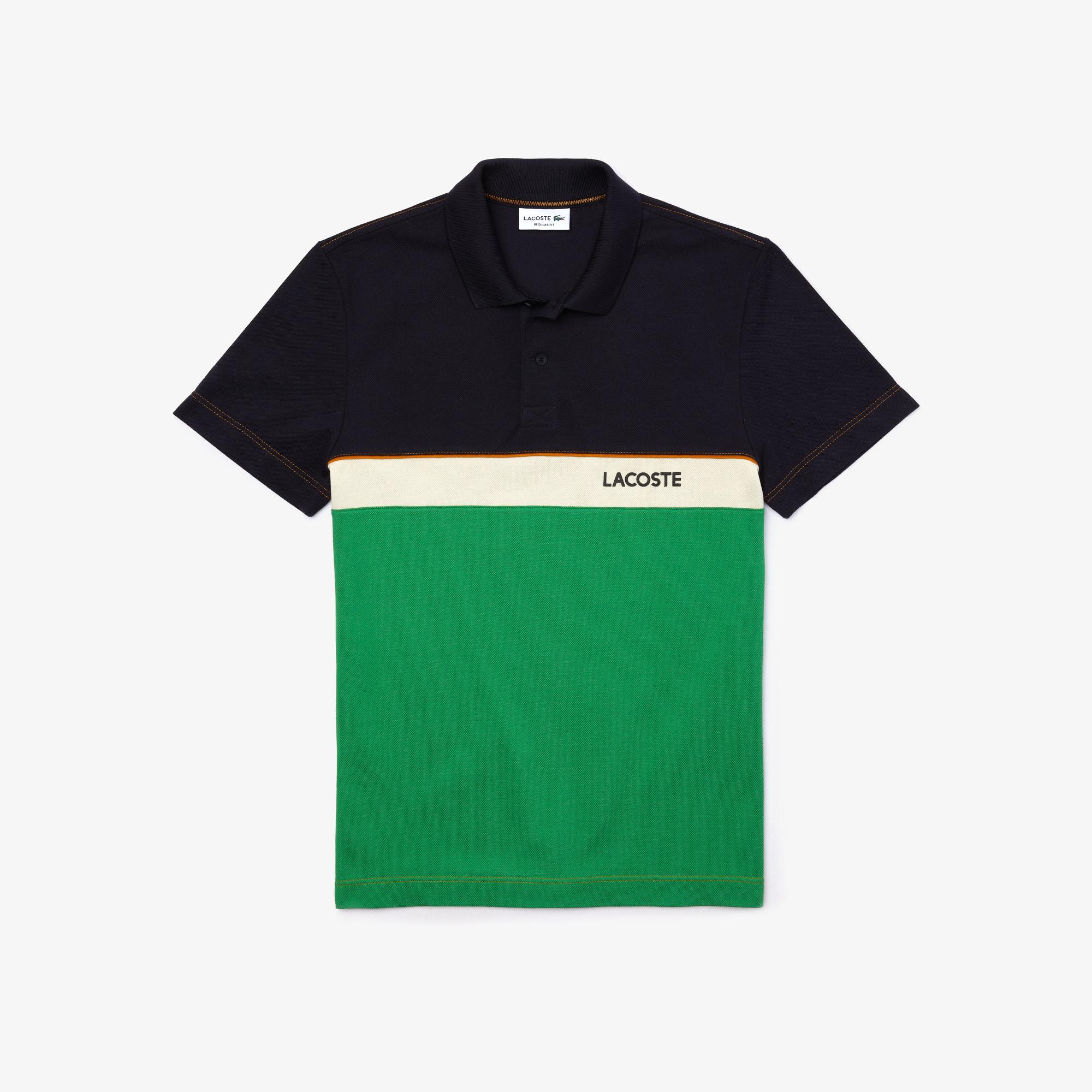 Lacoste Męska koszulka polo Regular Fit w bloki kolorystyczne z piki bawełnianej