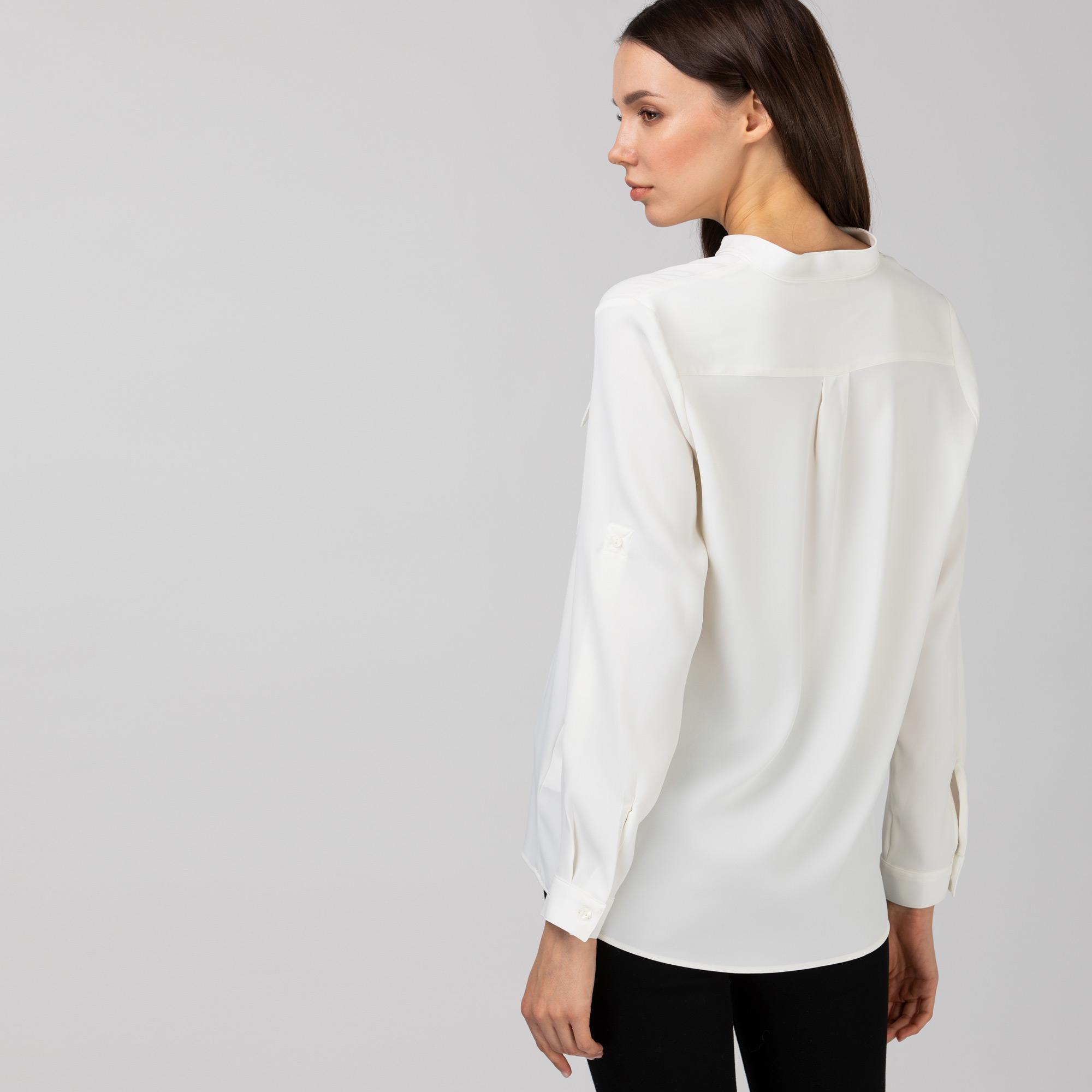 Lacoste Damska tkana koszula z długim rękawem