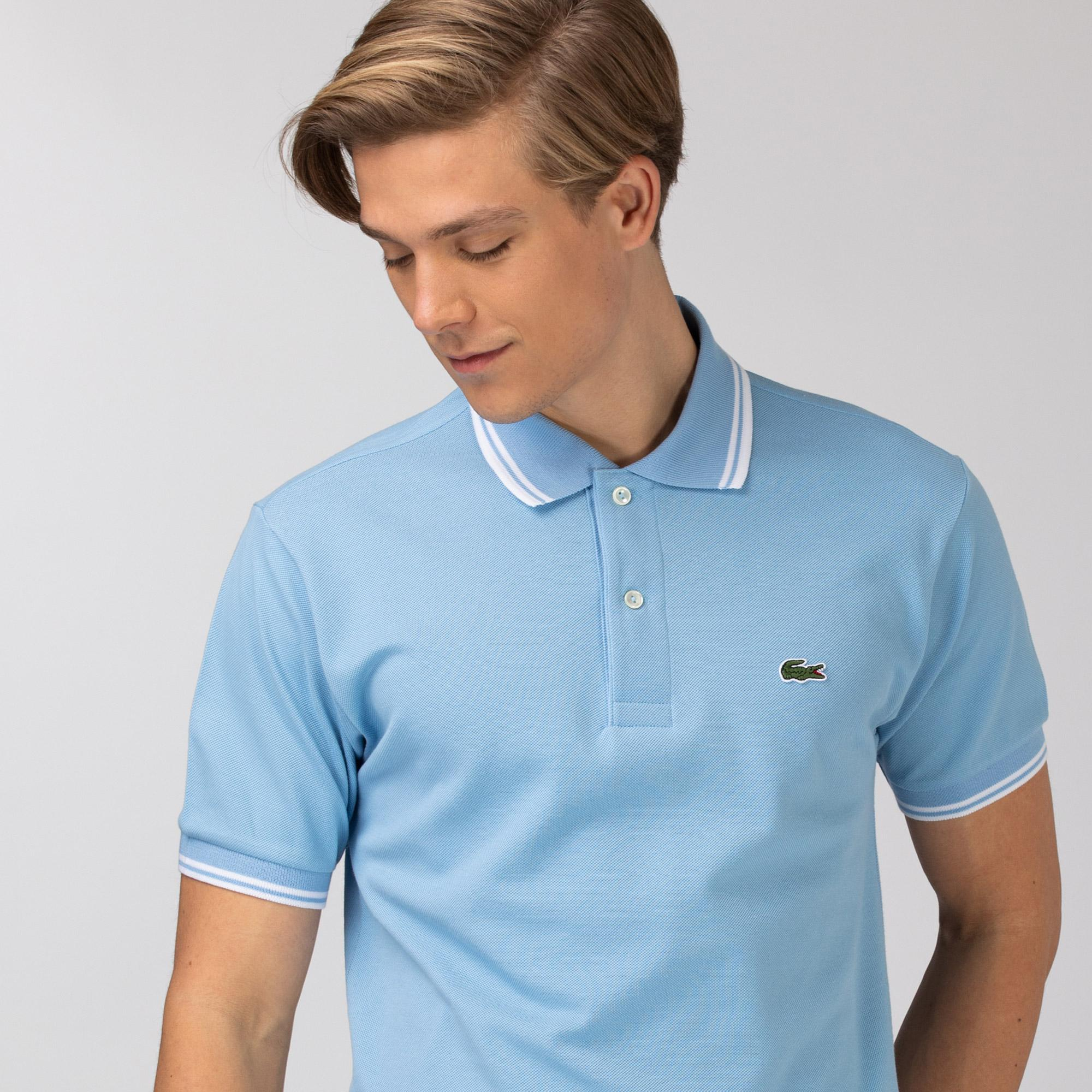 Lacoste Męska koszulka polo Classic Fit z piki bawełnianej z akcentami w postaci pasków