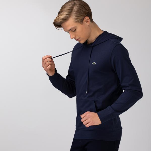 Lacoste Męska bawełniana bluza z kapturem