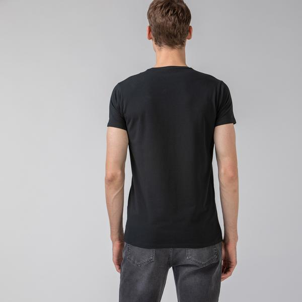 Lacoste Męski T-shirt z okrągłym dekoltem
