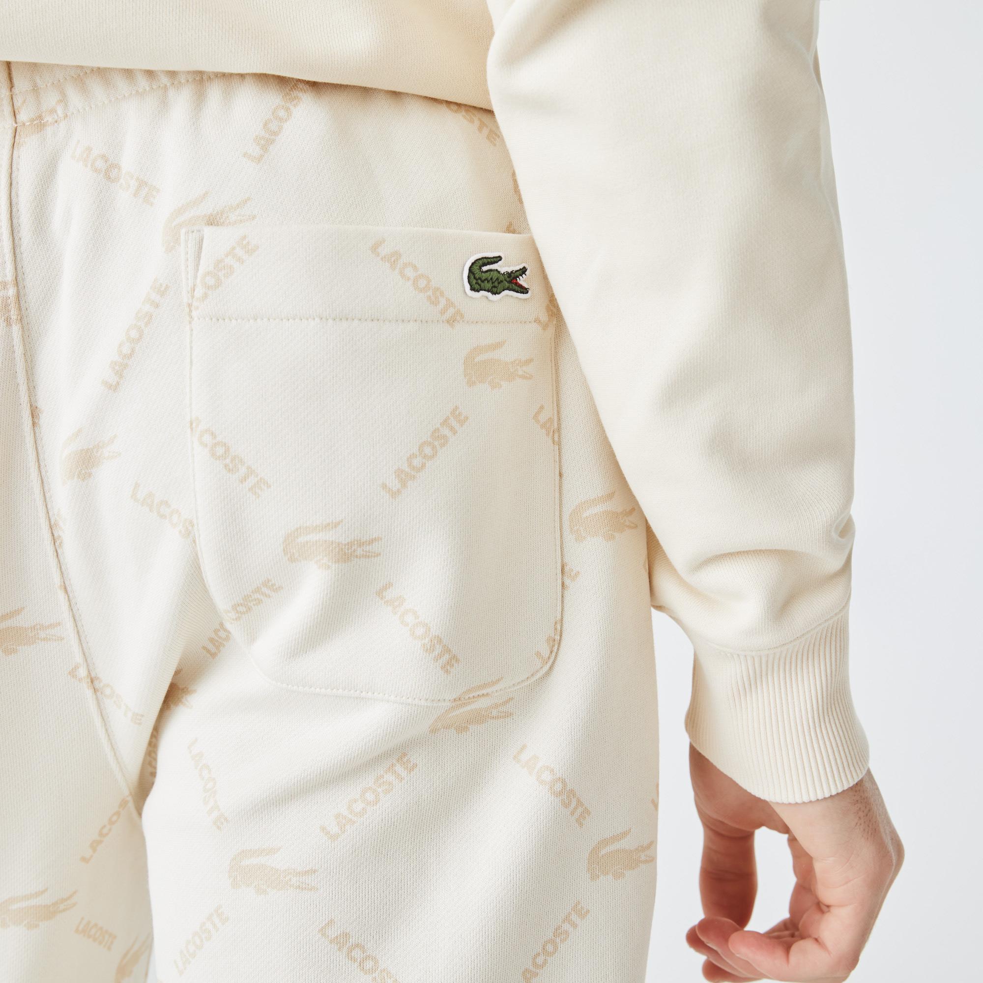 Lacoste L!VE Polarowe spodnie dresowe unisex z nadrukiem