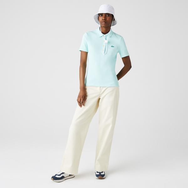Lacoste Damska koszulka polo Slim Fit z bawełny prążkowanej