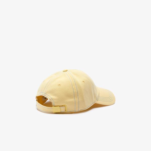 Lacoste Męska czapka z piki bawełnianej z haftowanym logo