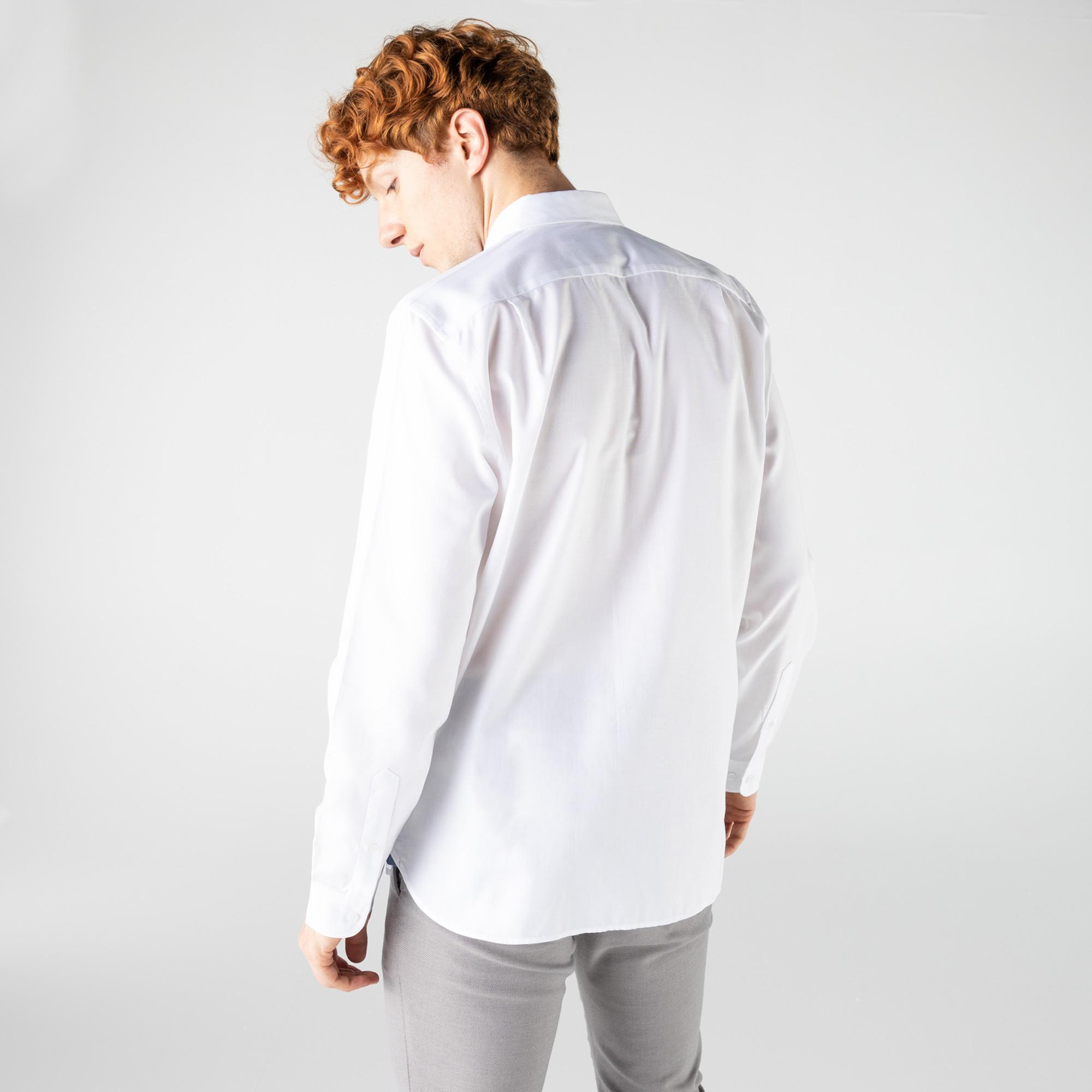Lacoste Men's Slim Fit Button-Down Collar Shirt