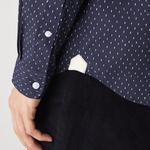 Lacoste Men's Slim Fit Micro-Patterned Cotton Poplin Shirt