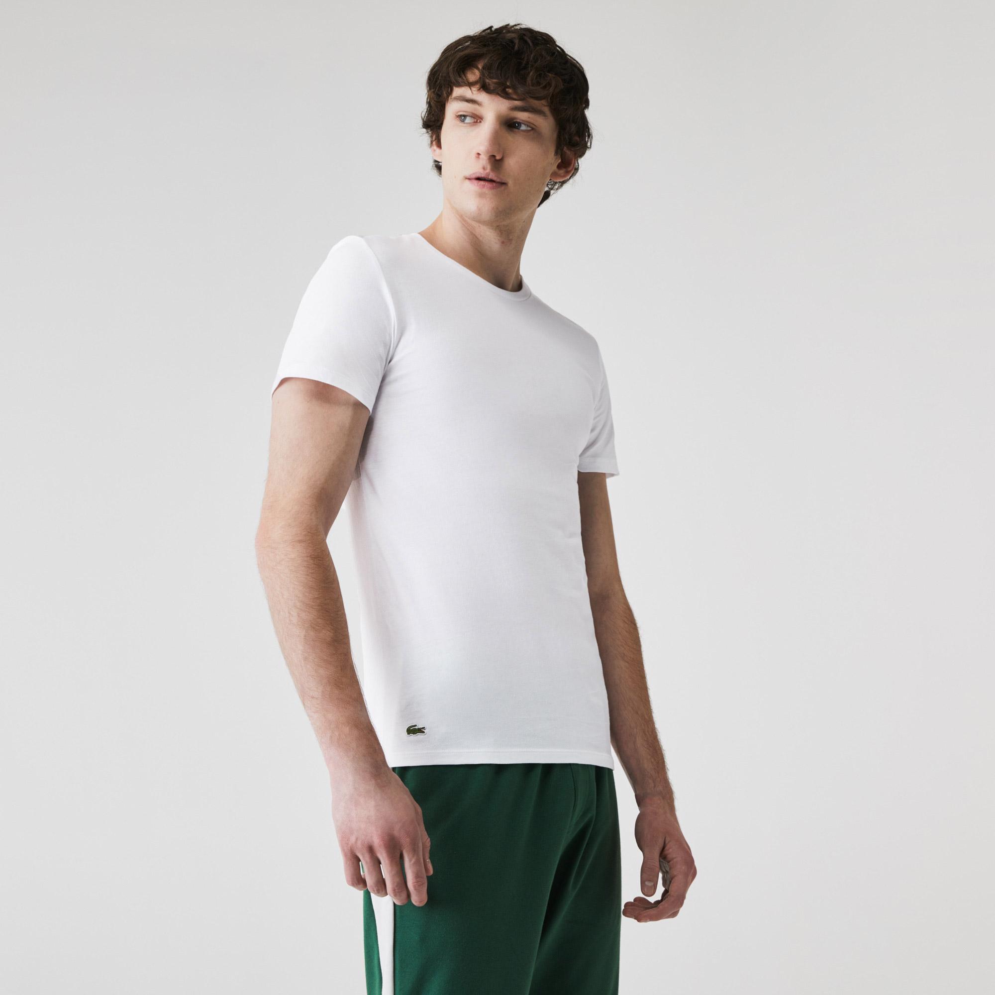 Lacoste Męski T-shirt bawełniany z okrągłym dekoltem, trójpak