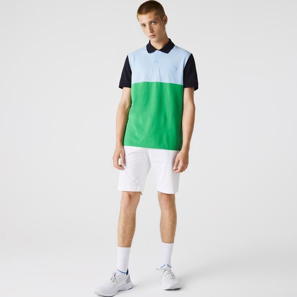 Men's Lacoste Regular Fit Light Breathable Colorblock Piqué Polo
