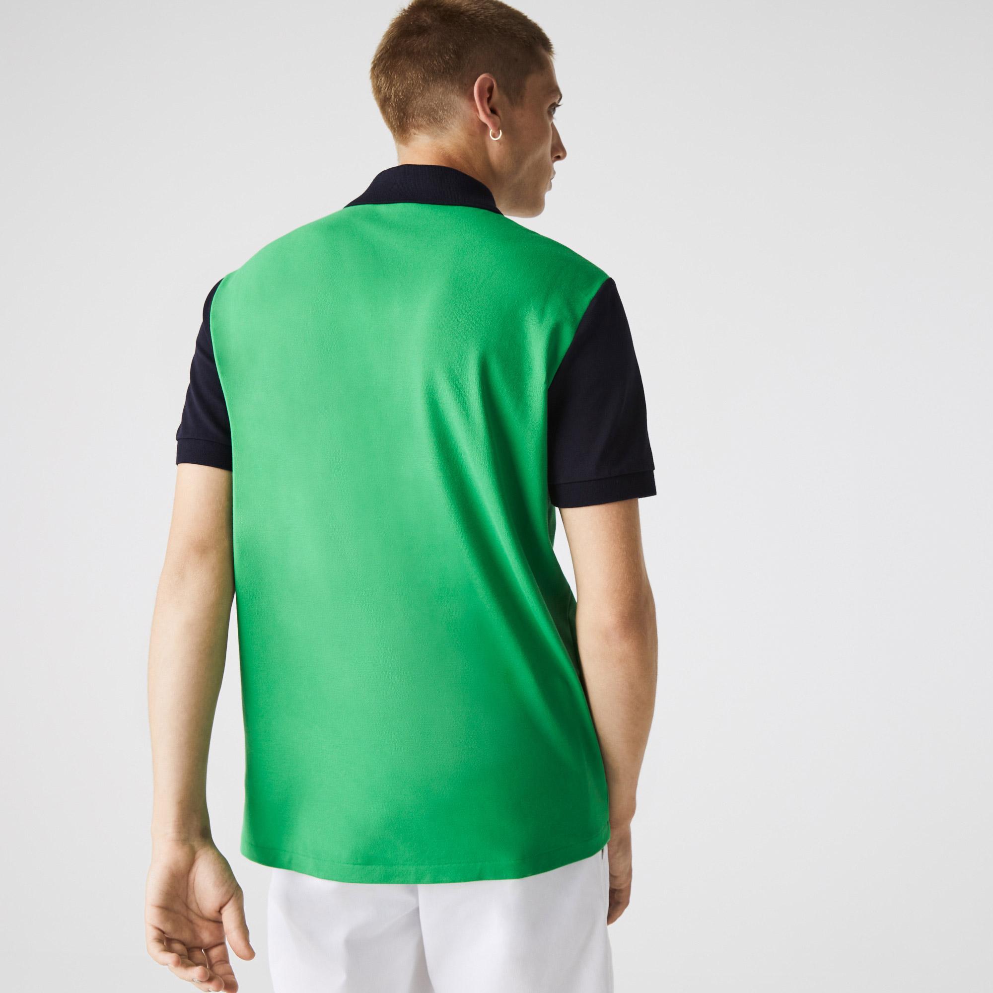 Lacoste Men's Regular Fit Light Breathable Colorblock Piqué Polo