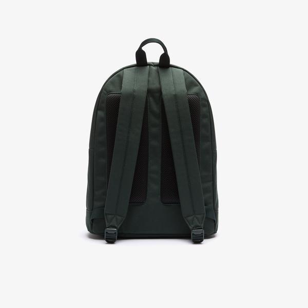 Lacoste Męski płócienny plecak z neonową tasiemką z napisem