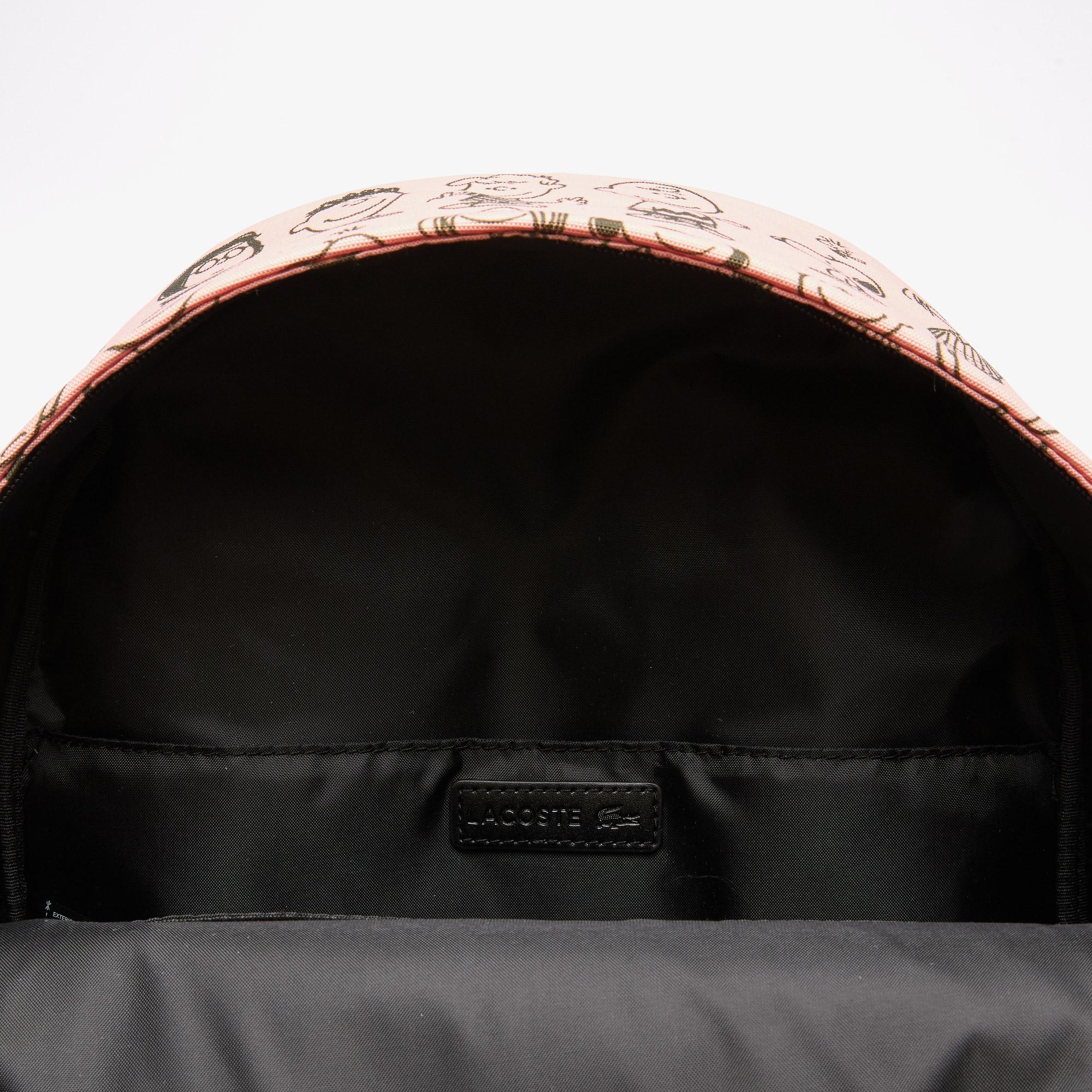 Lacoste x Peanuts Męski płócienny plecak z nadrukiem