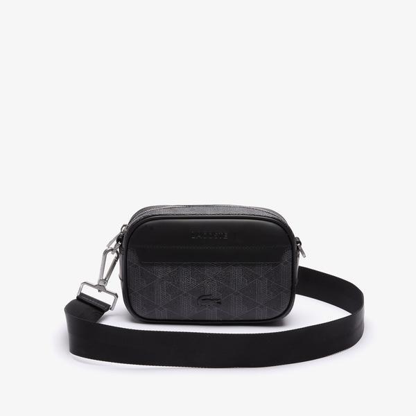 Lacoste Męska torba typu crossbody z płótna z małym monogramem The Blend