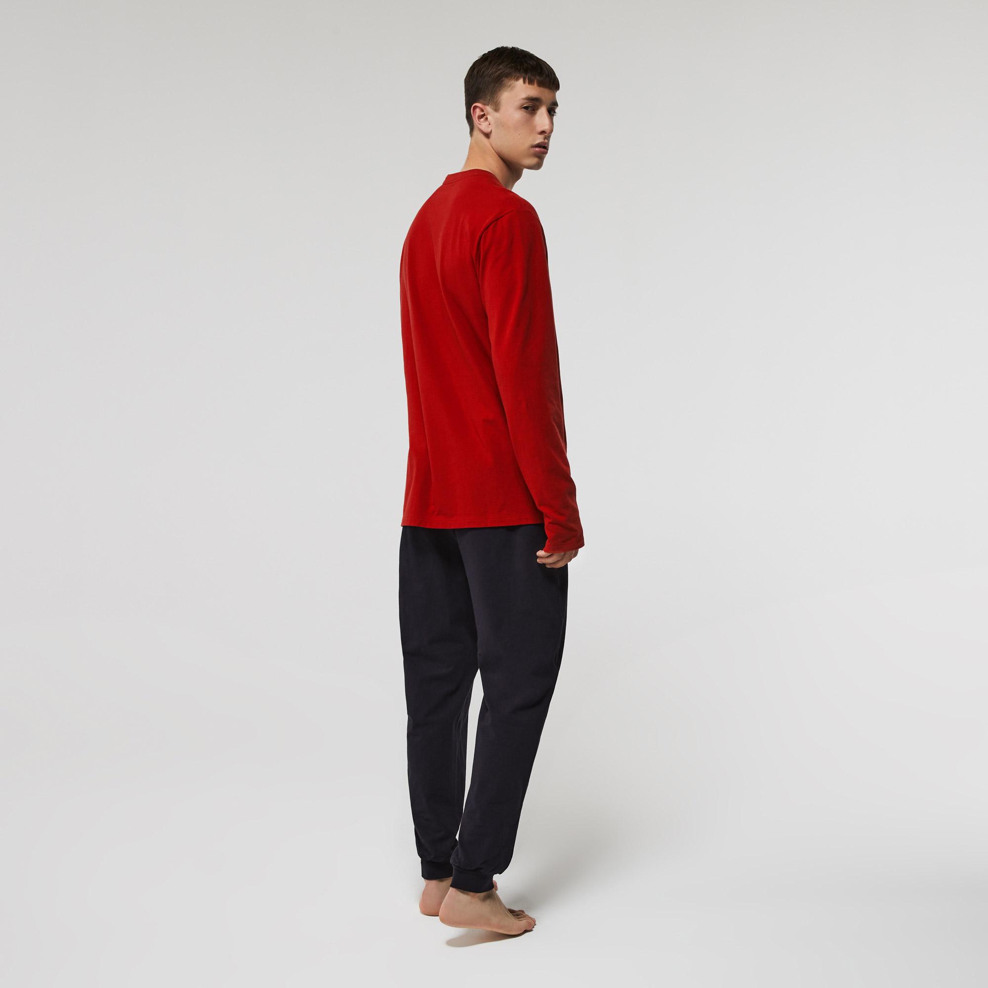 Lacoste Długi komplet piżamowy męski, z elastycznej bawełny