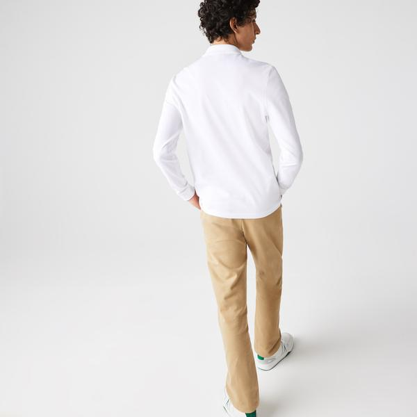 Lacoste Męska koszulka polo Regular Fit z bawełny organicznej