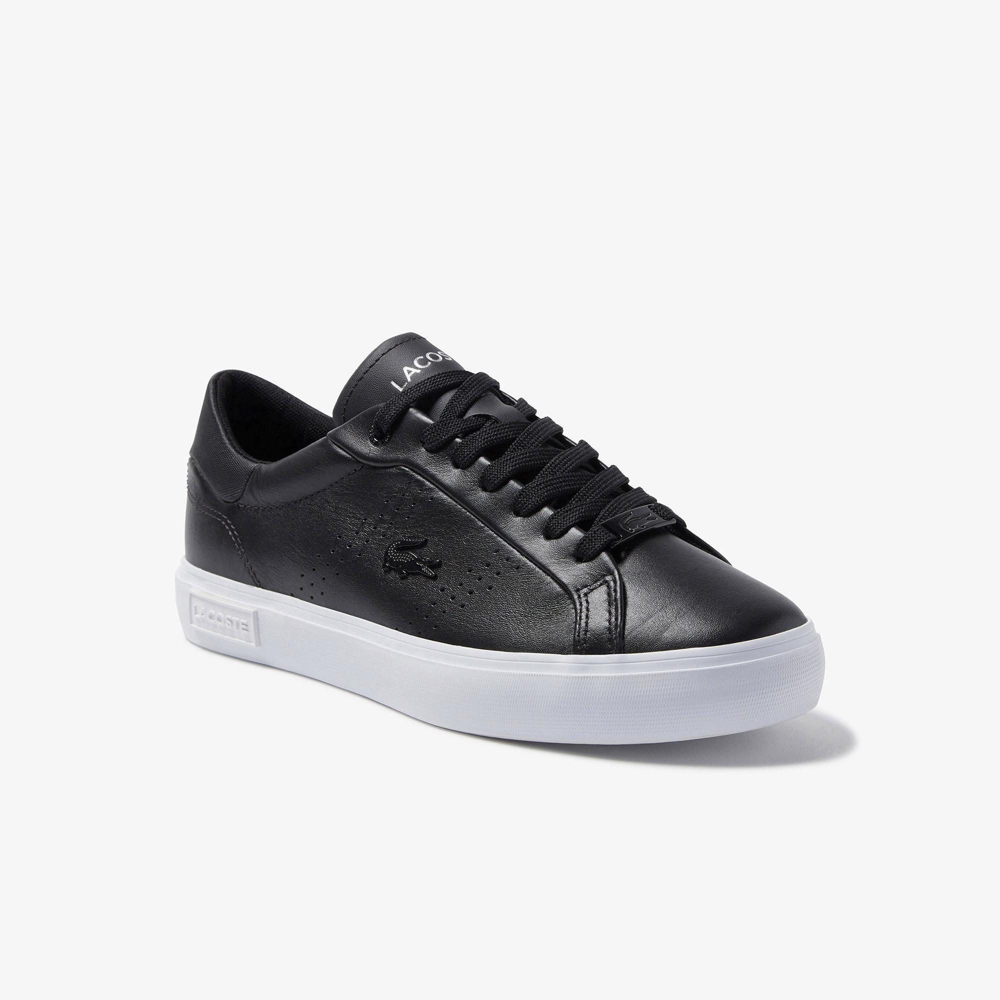 Lacoste Damskie sneakersy skórzane Powercut 2.0