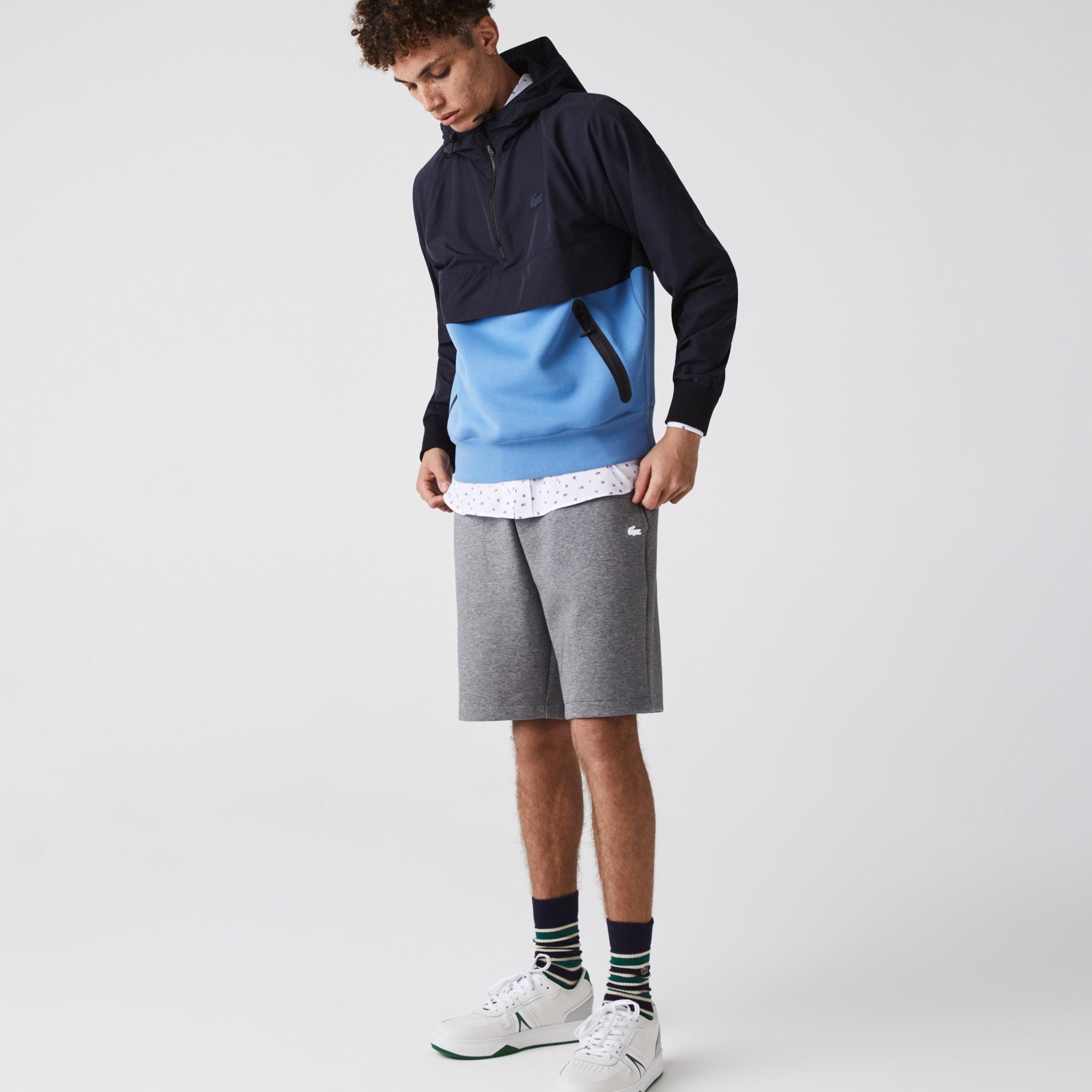 Lacoste Kurtka męska pullover z dwóch materiałów