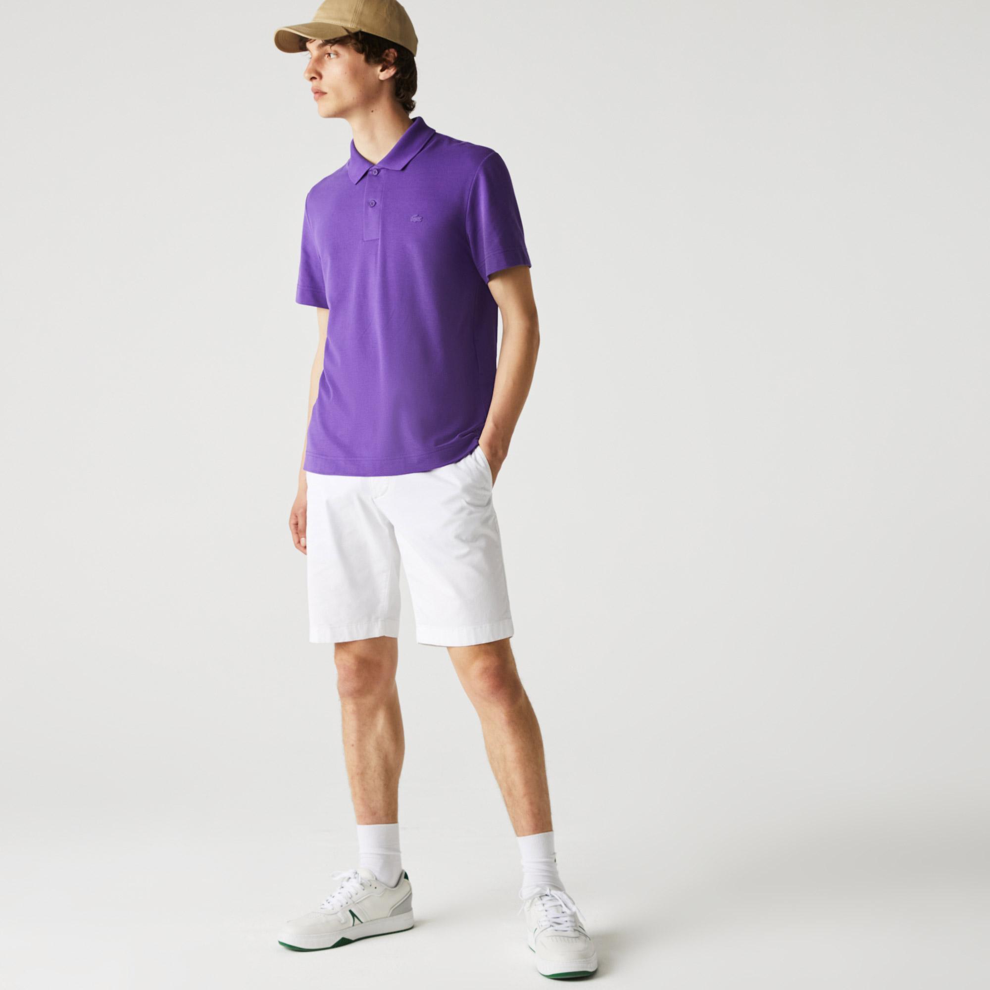 Lacoste Męska koszulka polo Regular Fit z piki, lekka, oddychająca