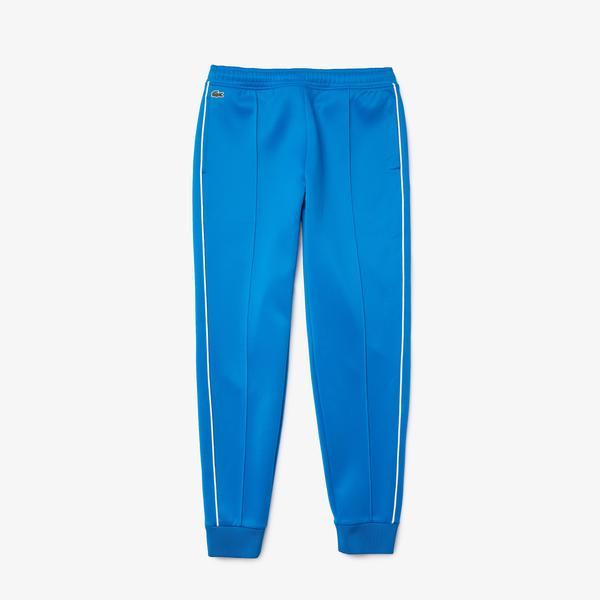 Lacoste Damskie plisowane spodnie sportowe z kontrastowymi wypustkami