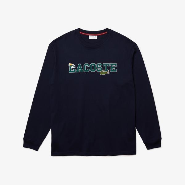 Lacoste Męski bawełniany T-shirt z logo