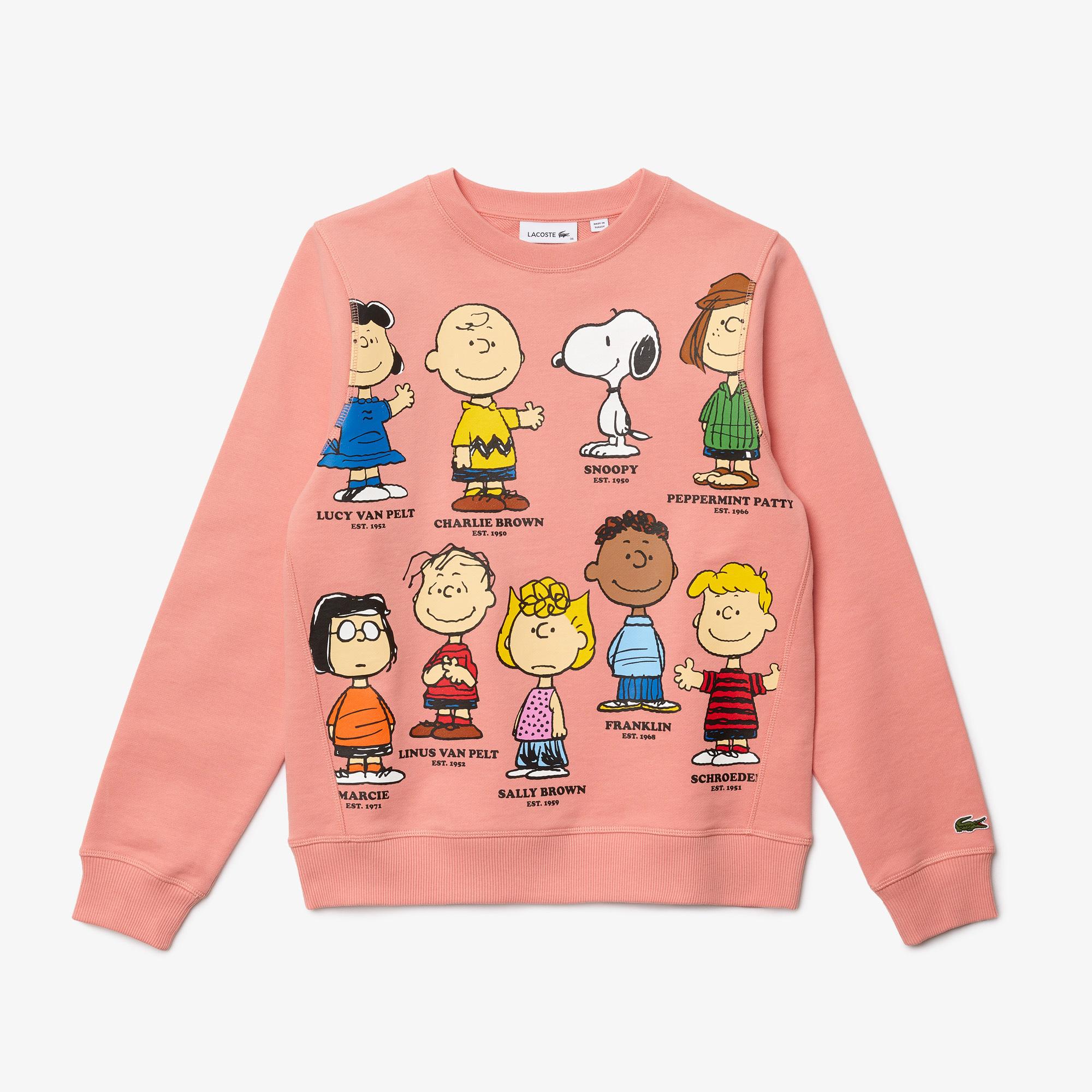 Lacoste x Peanuts Damska bluza z organicznej bawełniany z okrągłym dekoltem,