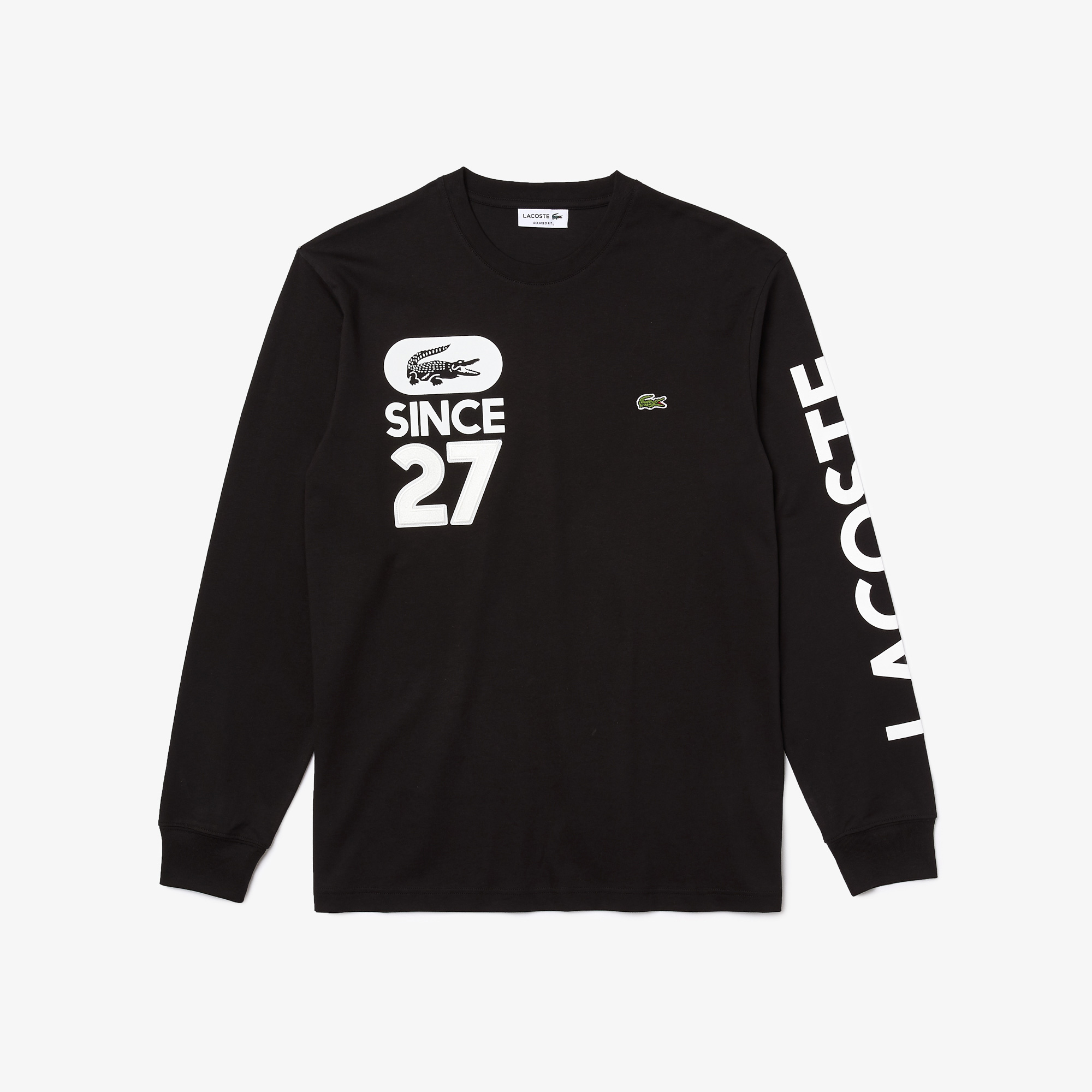 Lacoste T-shirt męski z bawełny z nadrukiem