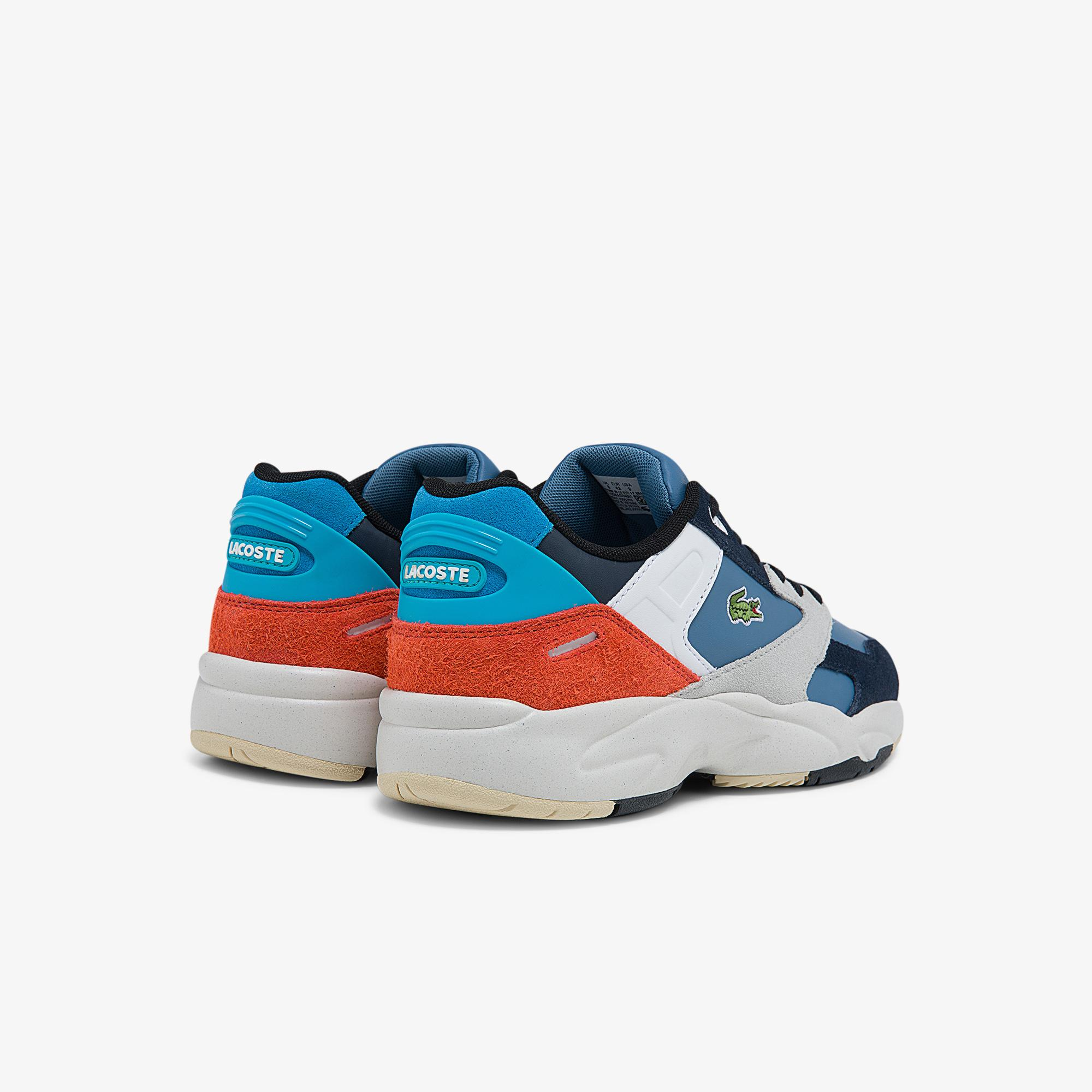 Lacoste Men's Storm 96 Lo Synthetic, Suede and Leather Sneakers