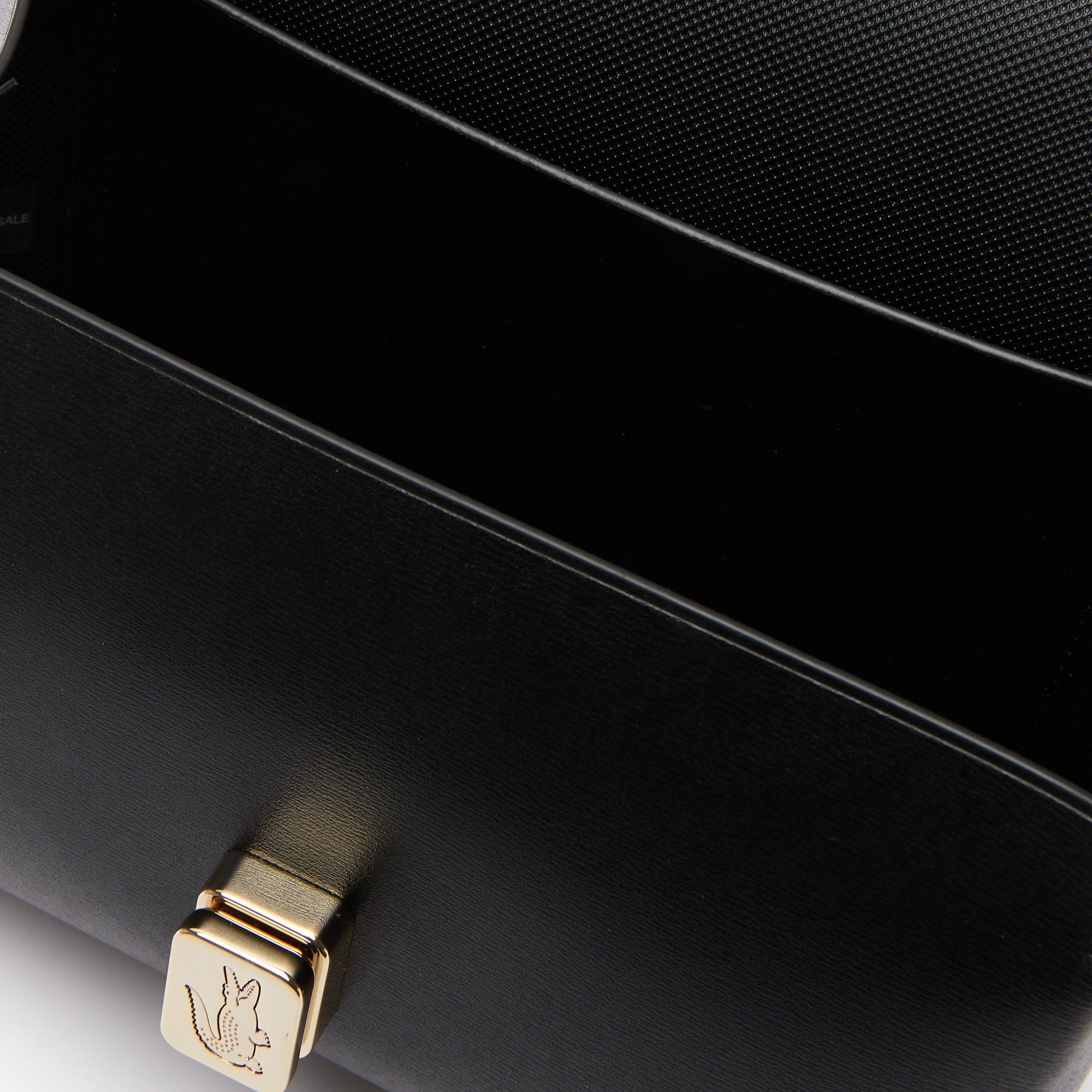 Lacoste Damska torebka Amelia, grawerowane metalowe zapięcie, skórzana