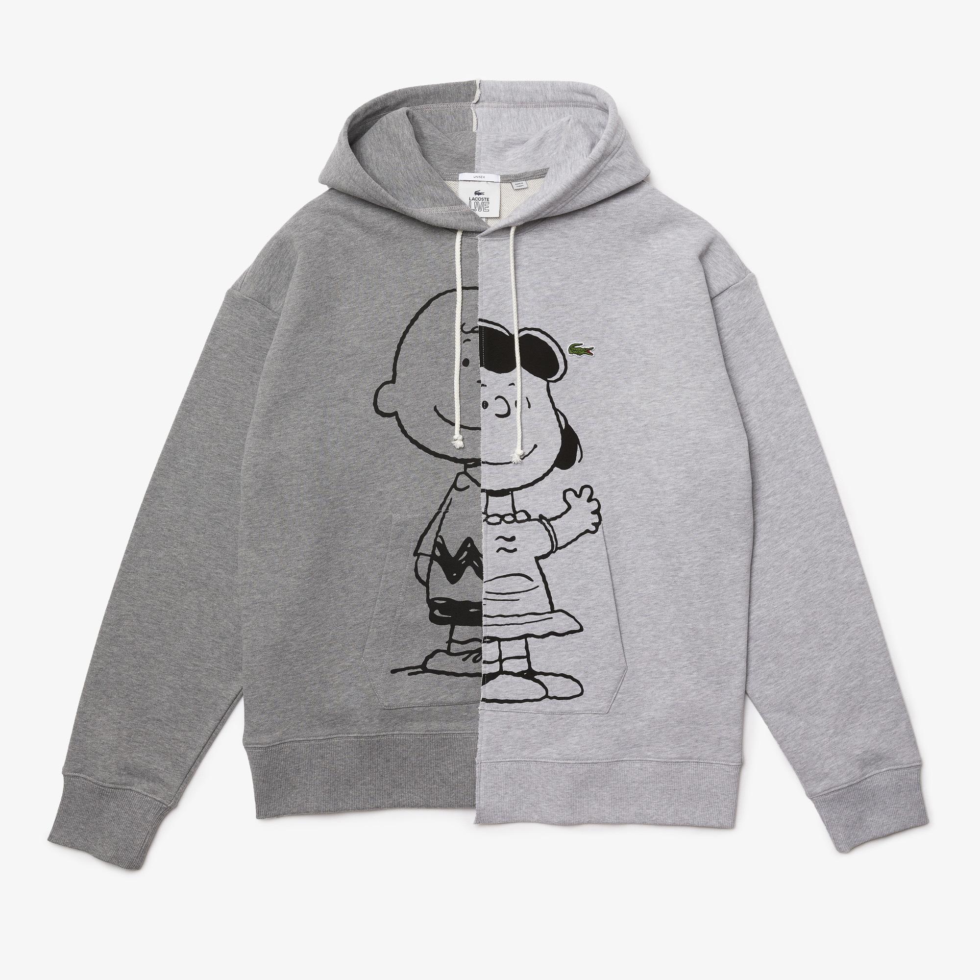 Lacoste L!VE x Peanuts Bluza z kapturem unisex, Loose Fit