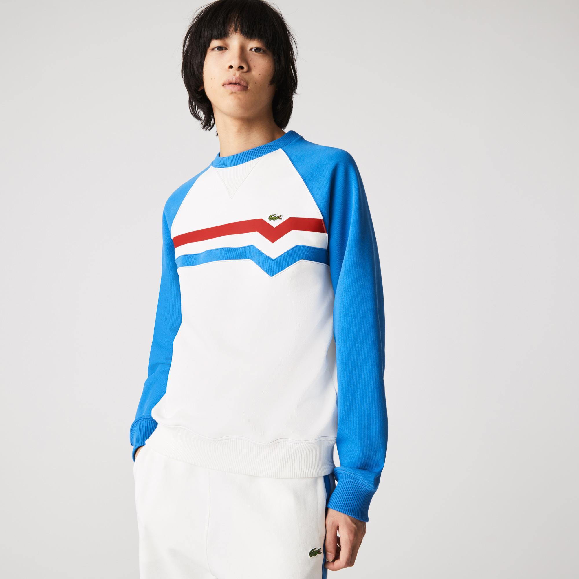 Lacoste Męska bluza polarowa, Loose Fit, z blokami kolorystycznymi, Made in France