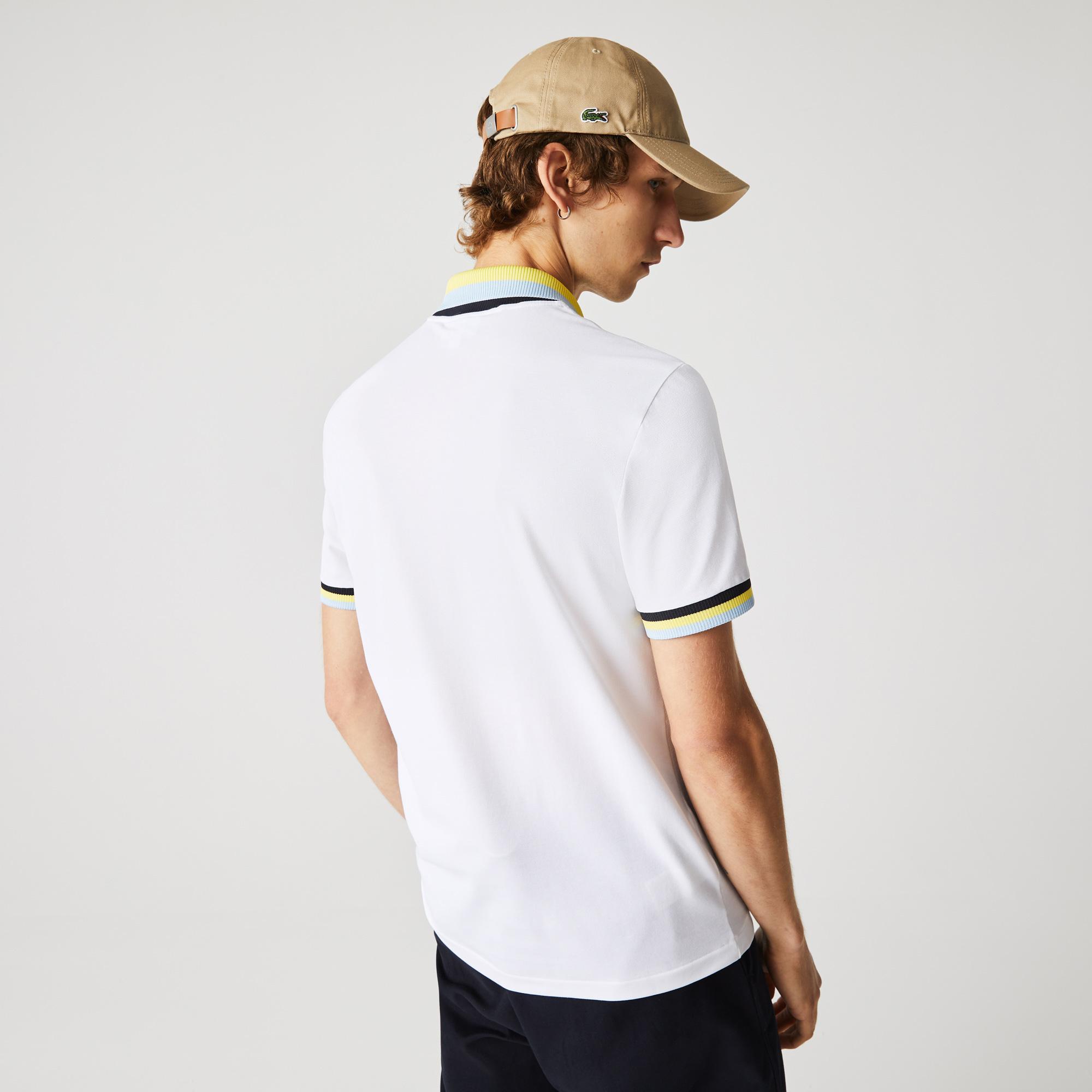 Lacoste Męska koszulka polo Slim Fit z piki, lekka, oddychająca