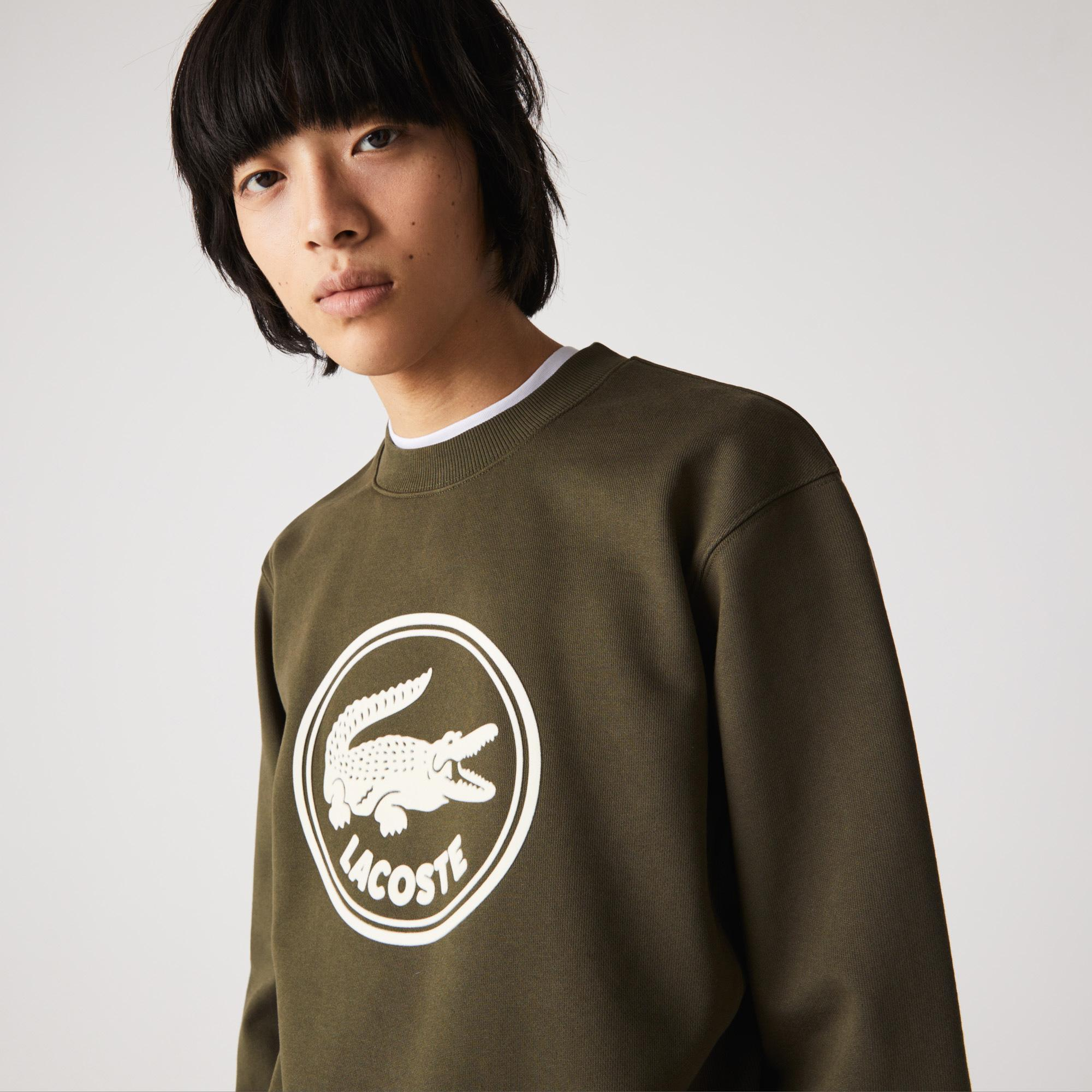 Lacoste Unisex 3D Logo Organic Cotton Fleece Sweatshirt